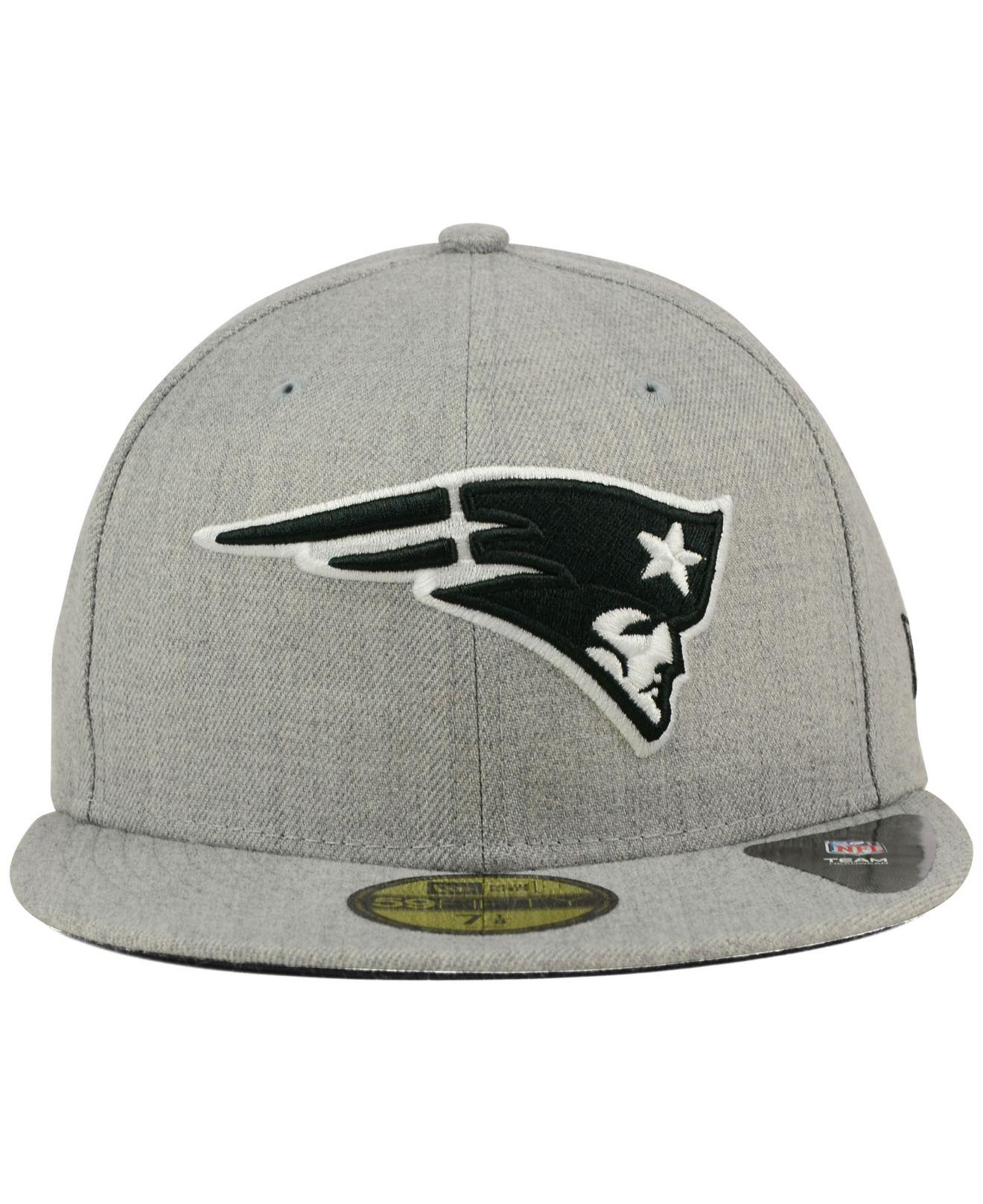 Lyst - KTZ New England Patriots Heather Black White 59fifty Cap in Gray for  Men e52b51af9