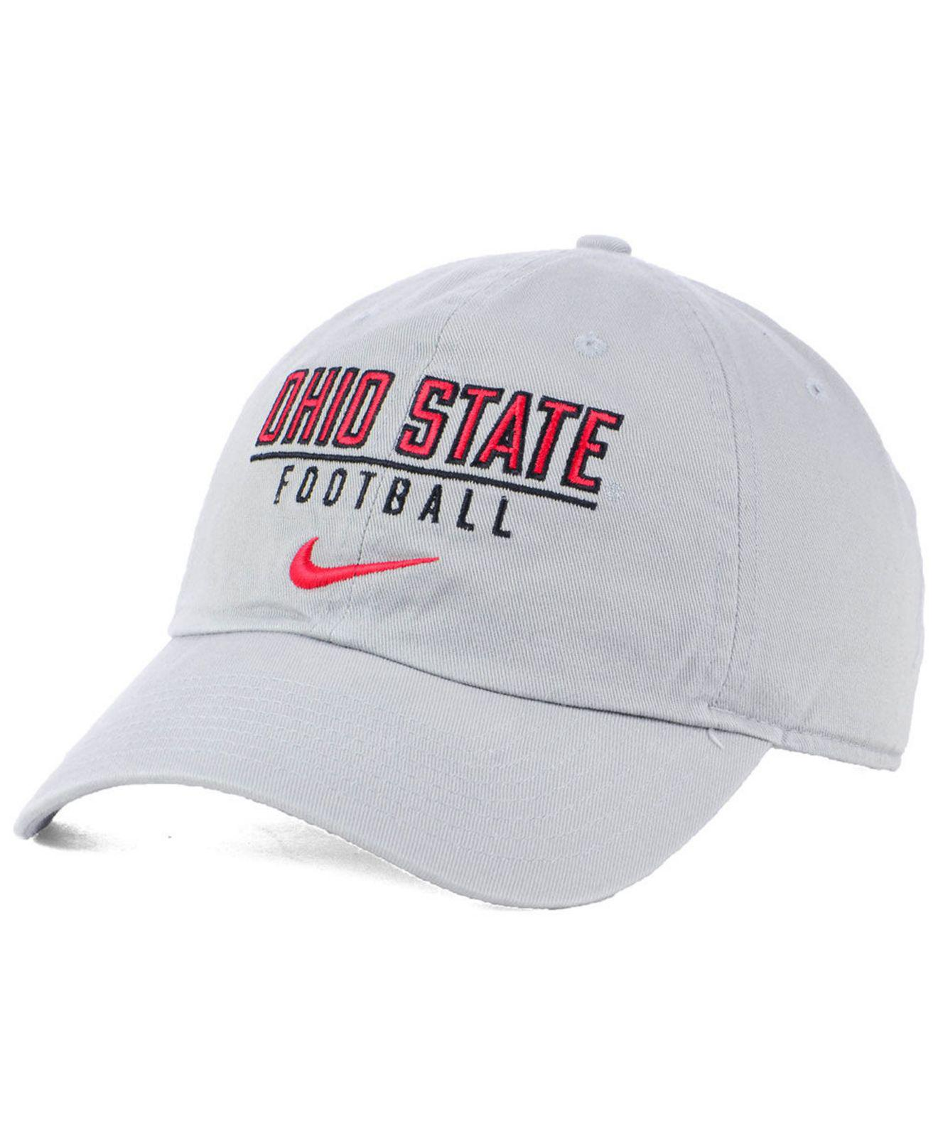 size 40 02118 2bdd9 Nike. Men s Gray Ohio State Buckeyes Campus Sport Adjustable Cap