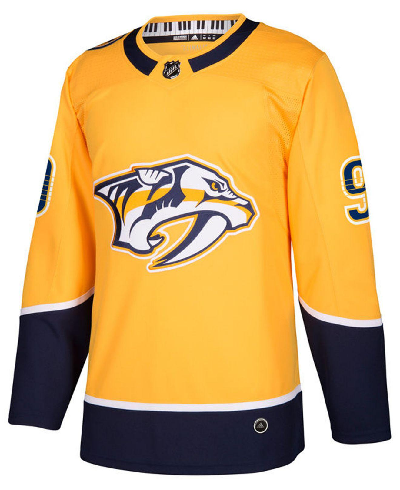 04532c7b105 Lyst - adidas Filip Forsberg Nashville Predators Adizero Authentic Pro  Player Jersey in Yellow for Men