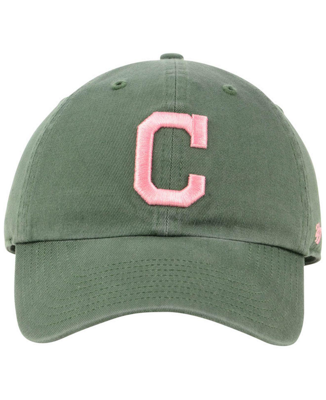 69126a58ef78f Lyst - 47 Brand Cleveland Indians Moss Pink Clean Up Cap in Green for Men