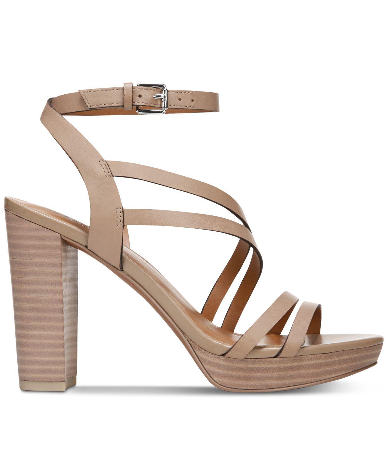 9c5120aedab Franco Sarto - Brown Maryann Platform Dress Sandals - Lyst. View fullscreen