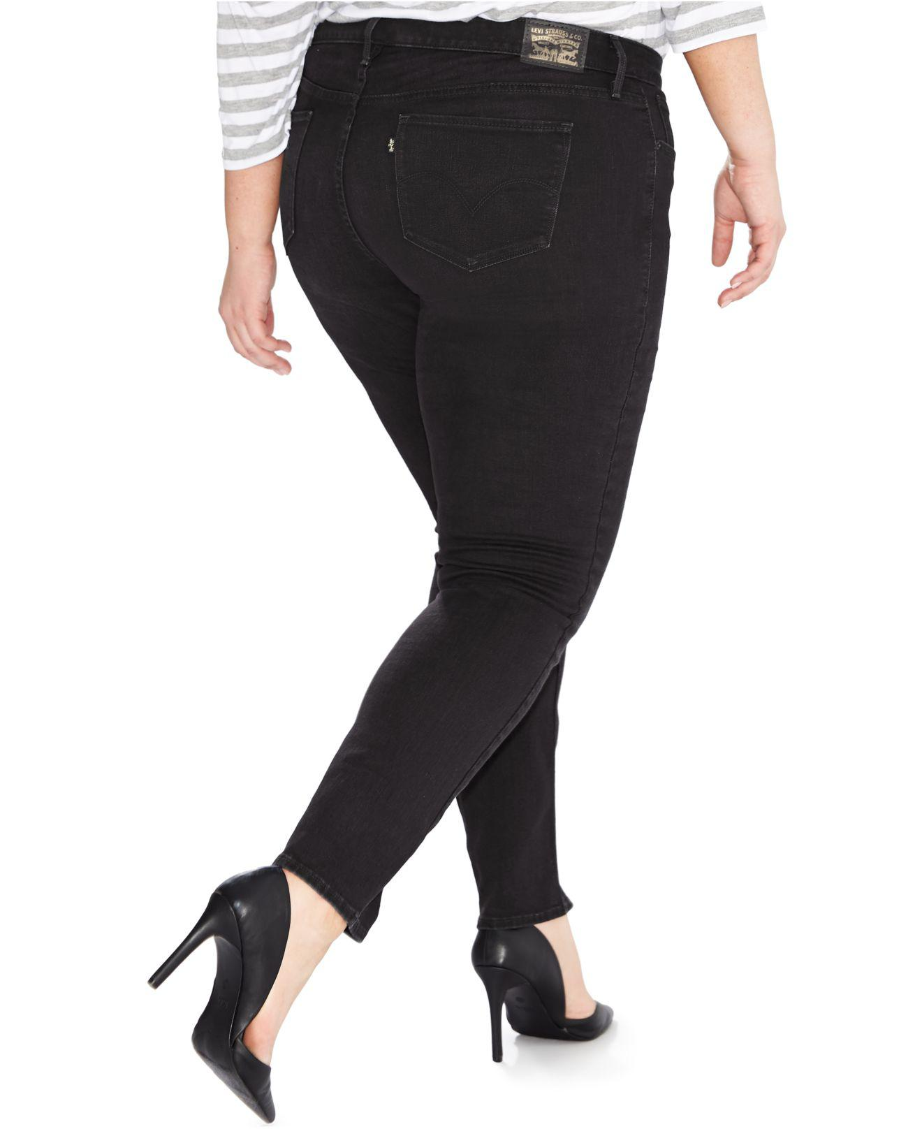 9b2fba23d00 Lyst - Levi s Plus Size 311 Shaping Skinny Jeans in Black