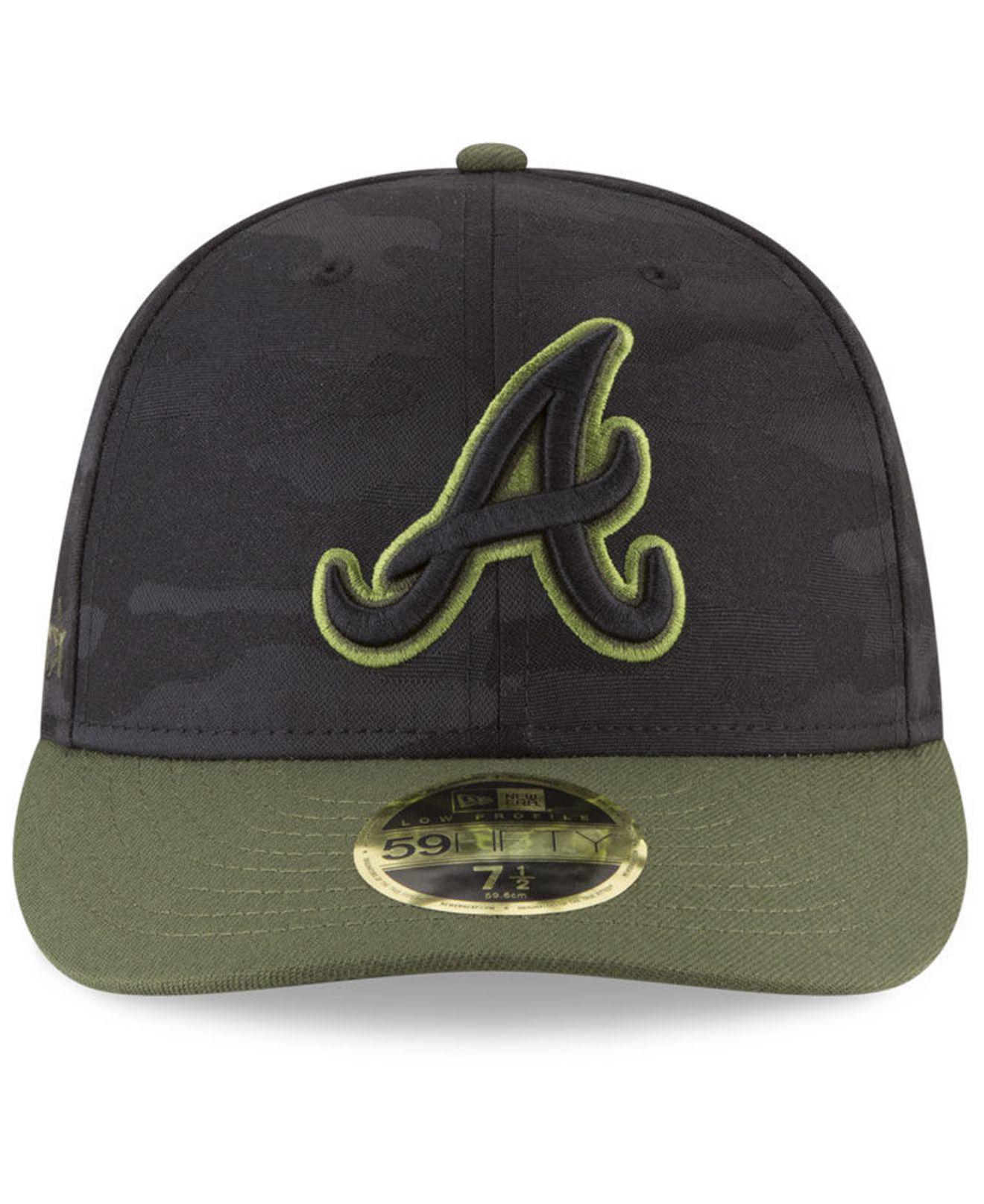 dcd4ce0acba ... shopping lyst ktz atlanta braves memorial day low profile 59fifty  fitted cap in green for men