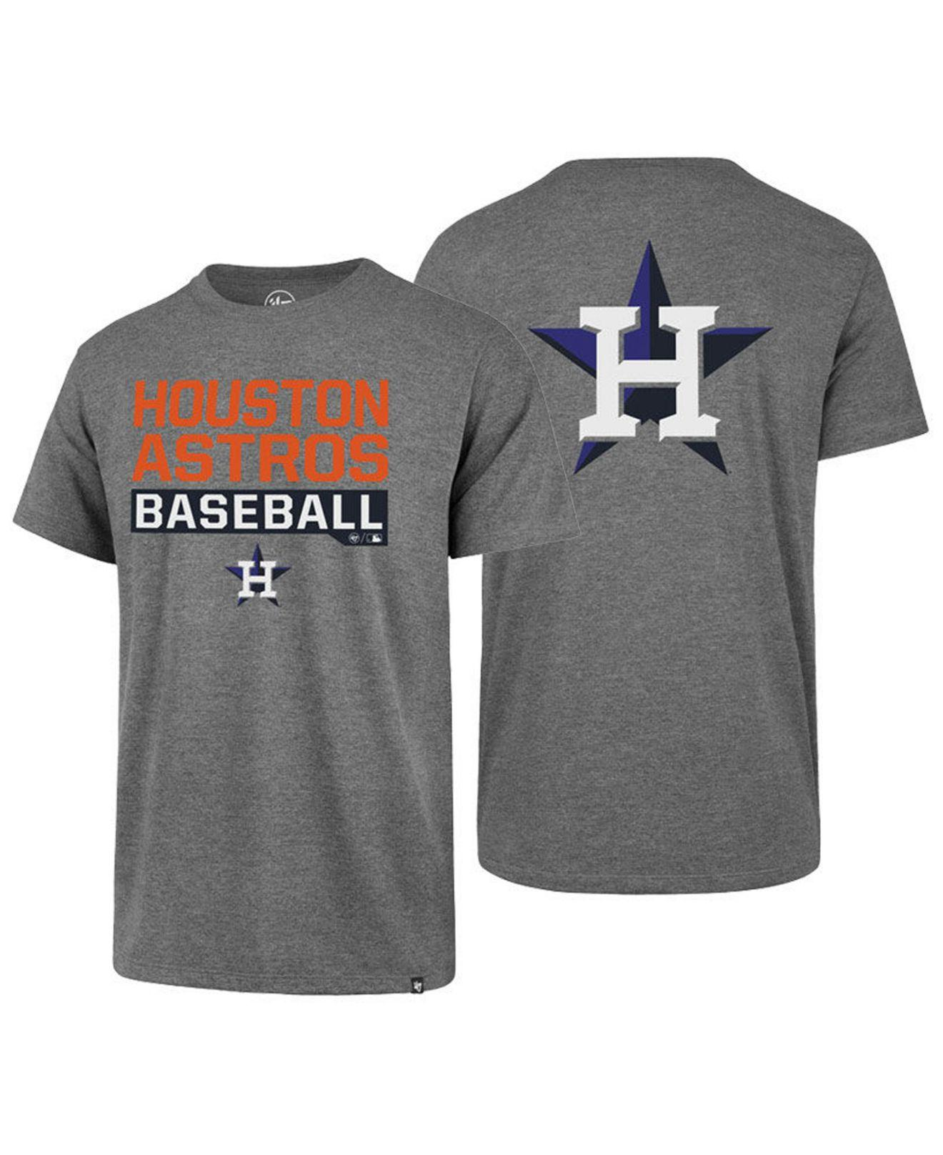 3648d5cd6c1ca Lyst - 47 Brand Houston Astros Rival Bases Loaded T-shirt in Gray ...