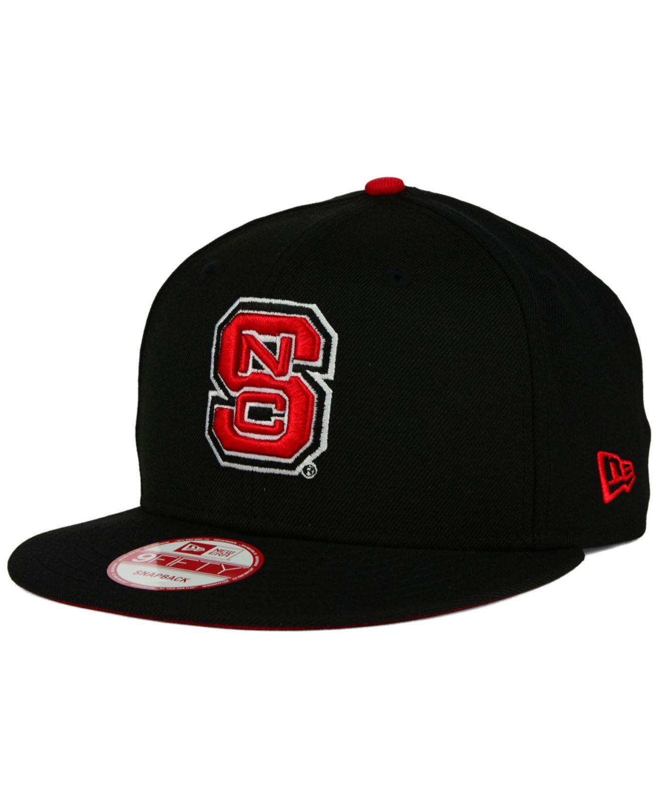 newest 39261 d2a74 KTZ. Men s Black North Carolina State Wolfpack Core 9fifty Snapback Cap