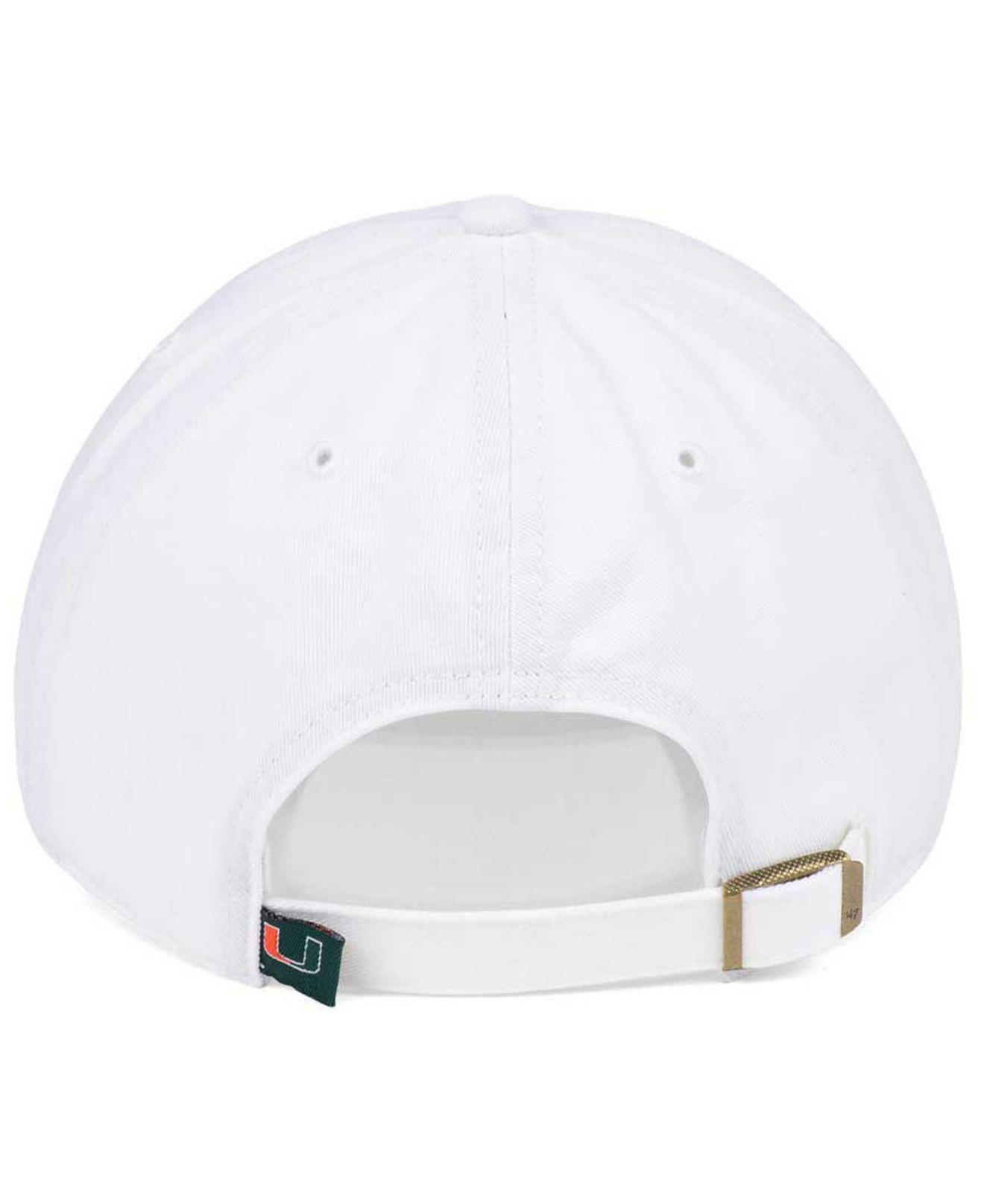 promo code 2babd 20338 ... hot purchase 47 brand white miami hurricanes clean up cap for men lyst.  view fullscreen