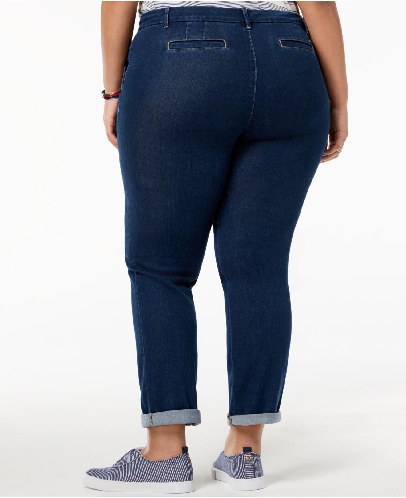 0ca39427839 Lyst - Tommy Hilfiger Plus Size Denim Hampton Ankle Jeans
