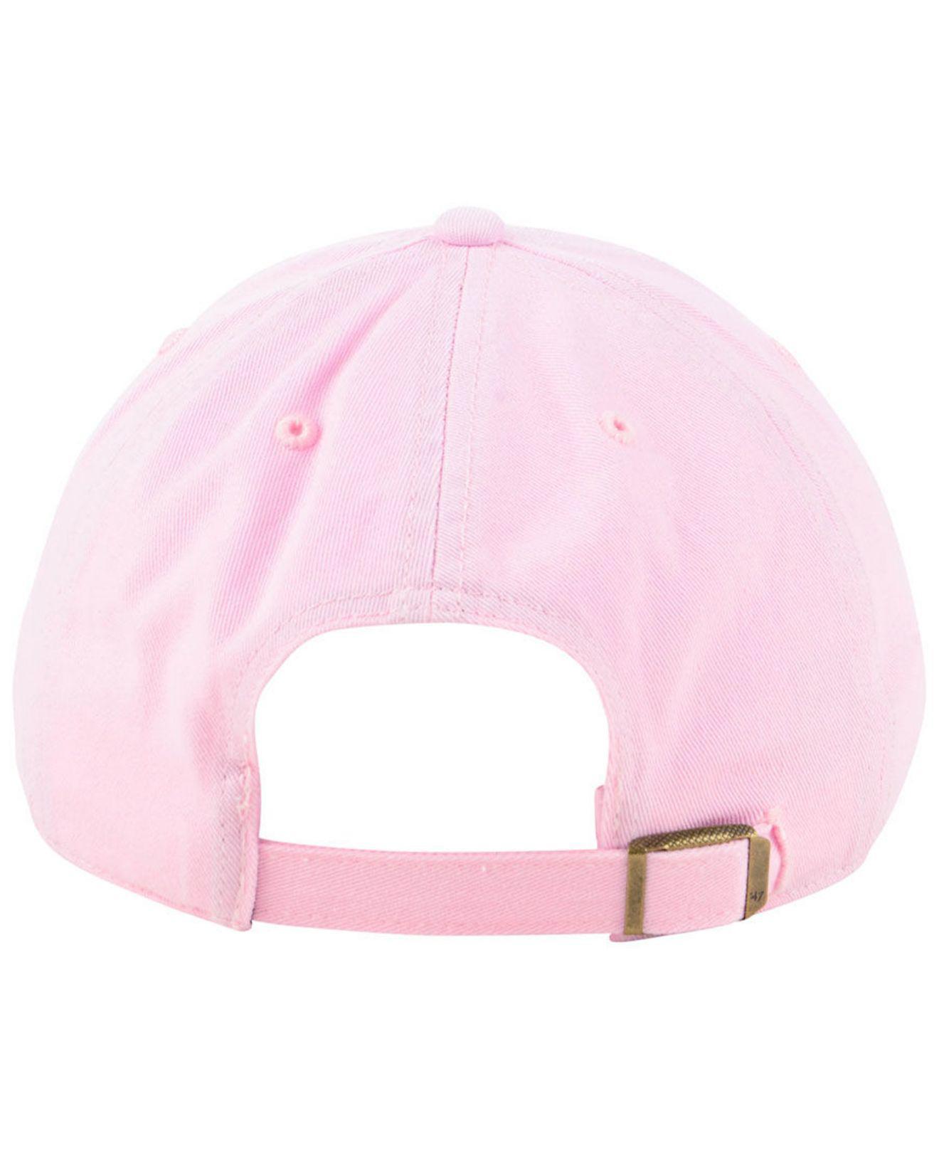 fa9f25a12d3 ... australia lyst 47 brand miami marlins pink clean up cap in pink 9c034  4c457