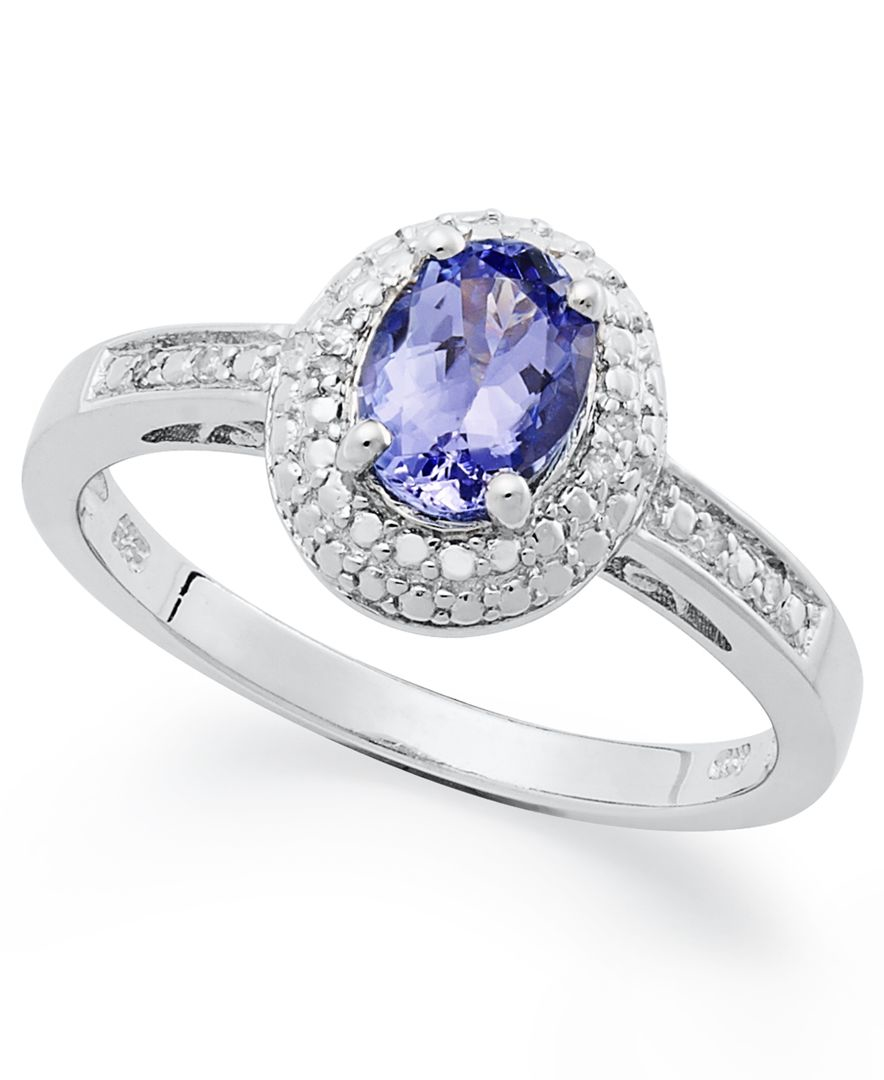 Macy s Sterling Silver Ring Tanzanite 3 4 Ct T w And Diamond Accent