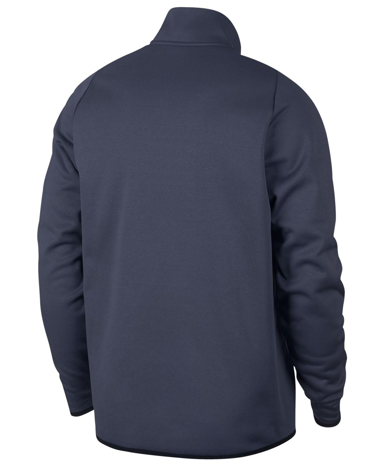 44217949bf5f Lyst - Nike Therma Quarter-zip Top in Blue for Men