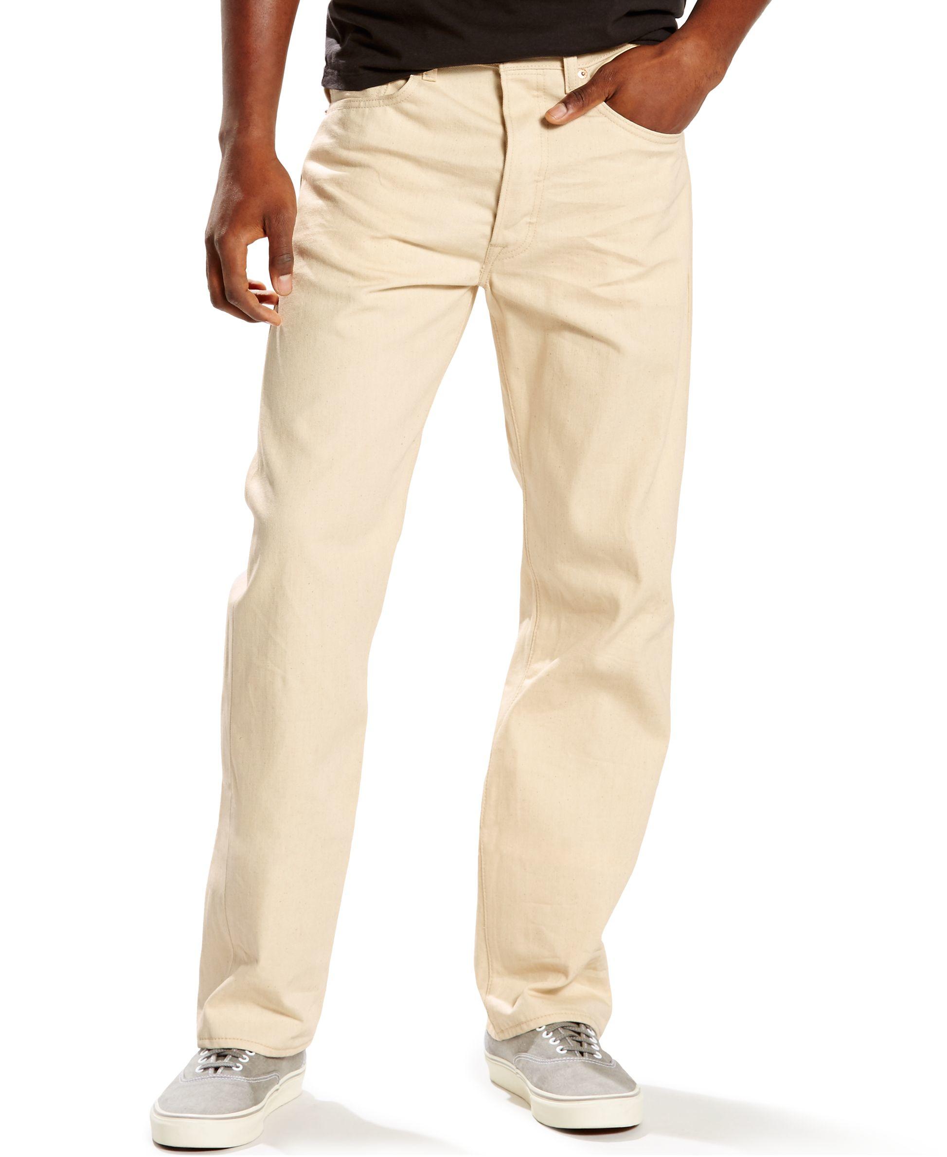 Levis 501 Original Shrink to fit Jeans In Natural For Men