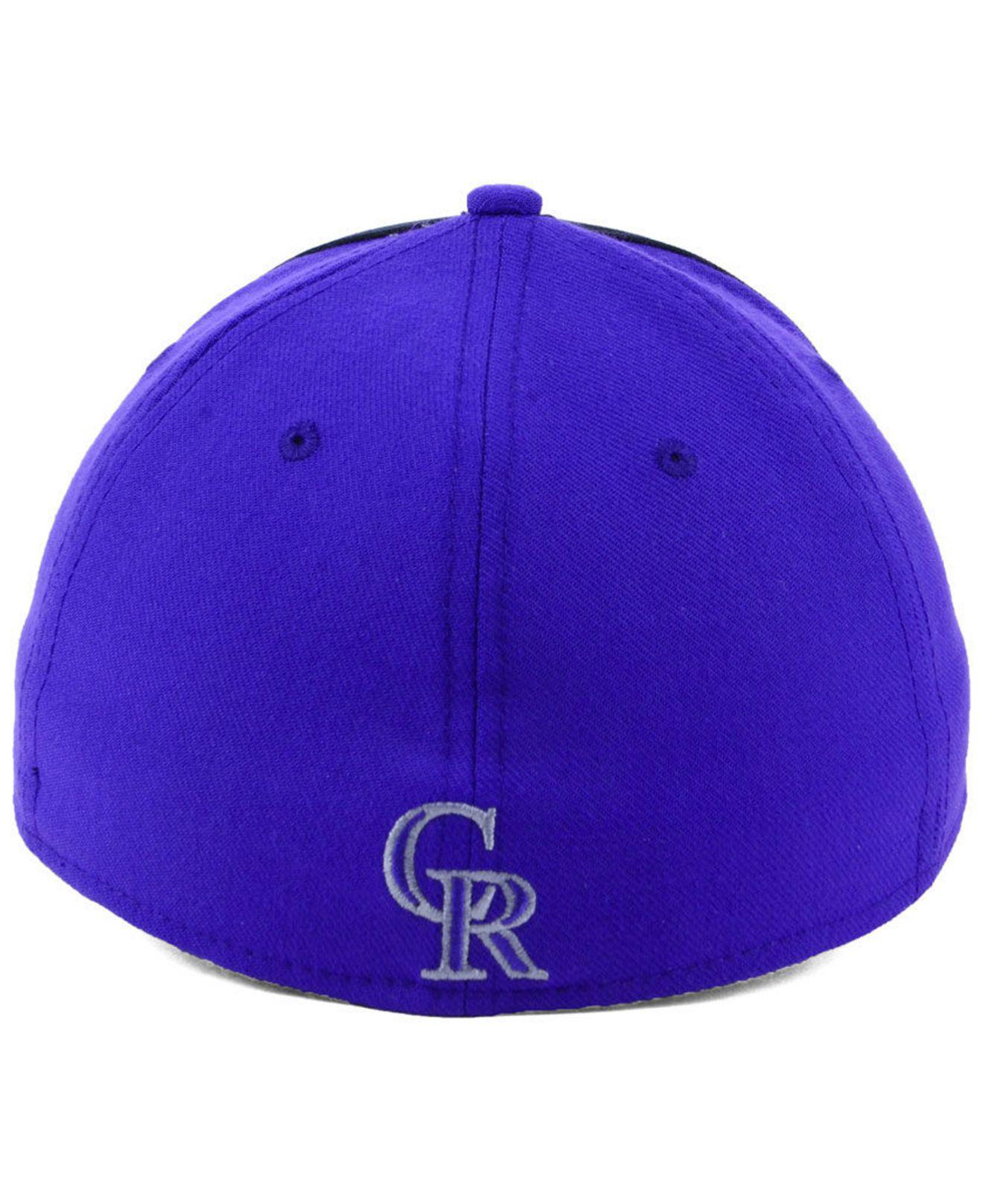 new product bb107 c86af ... top quality nike blue colorado rockies team color reflective swooshflex  cap for men lyst. view
