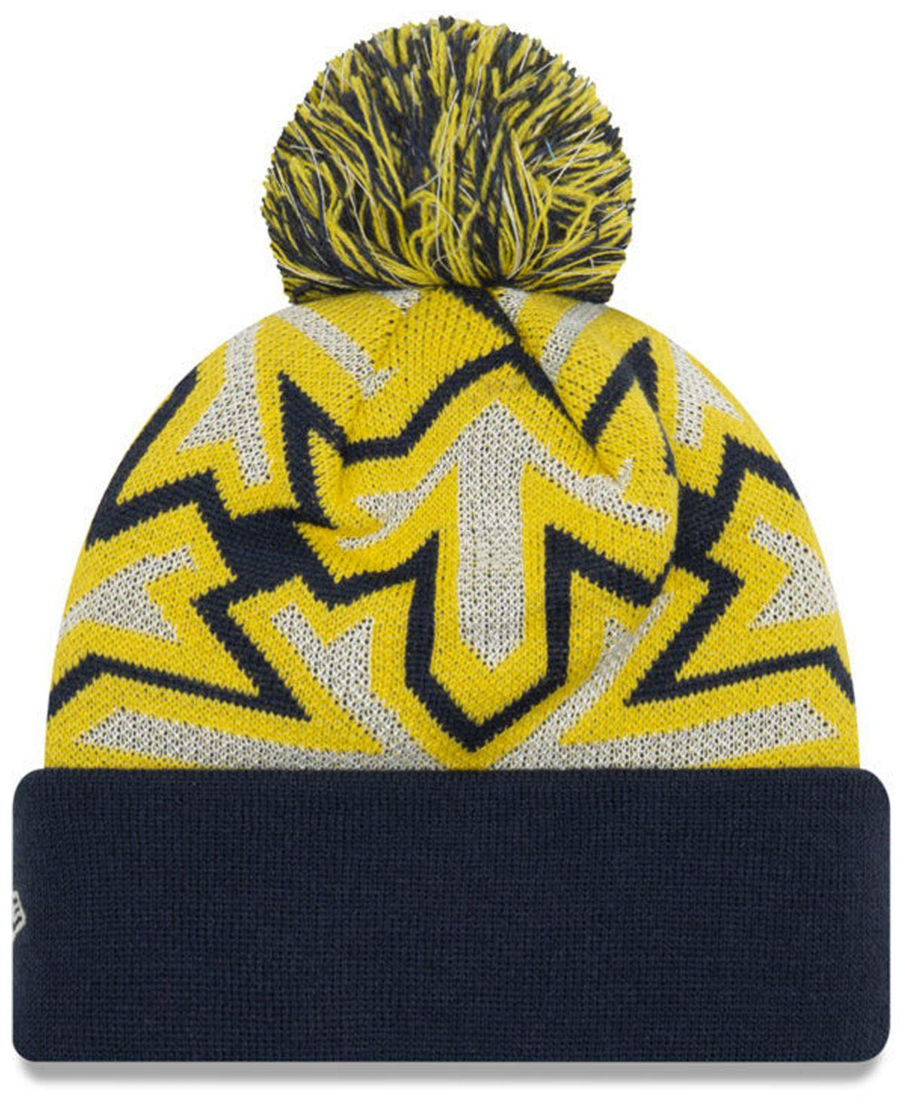 pretty nice 5690c d85fa ... italy lyst ktz indiana pacers glowflake cuff knit hat in yellow 68250  16593