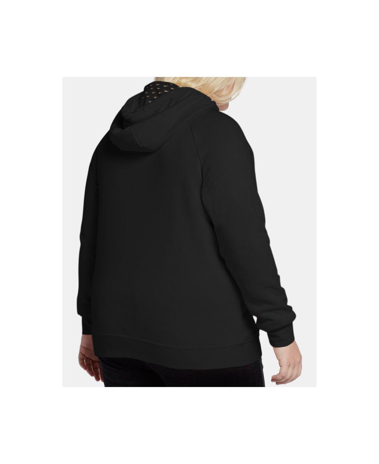 ef87fceb8ad72 Lyst - Nike Plus Size Sportswear Fleece Rally Metallic-logo Hoodie in Black