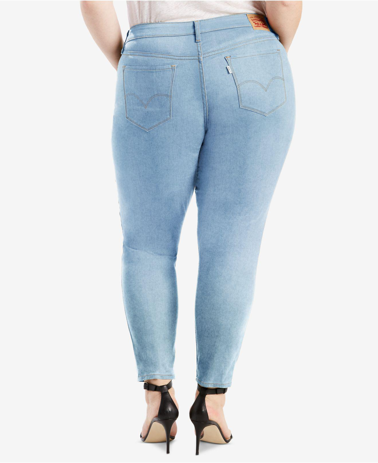 5e05745777c Lyst - Levi S ® Plus Size 711 Cotton Skinny Ankle Jeans in Blue