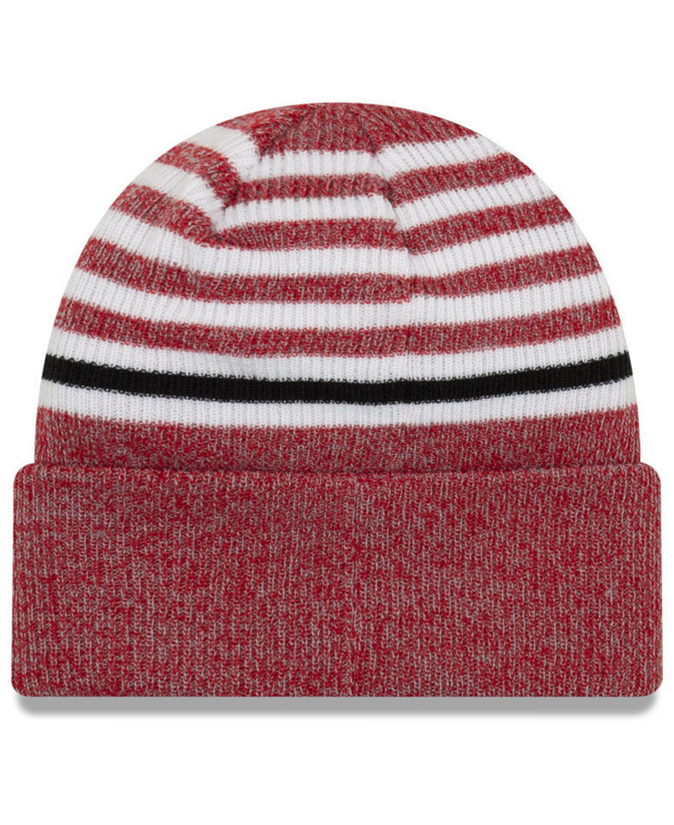 pretty nice 729cb 83a53 ... 9fifty snapback cap outlet store online hzlppj8797 04572 6c8d6   discount lyst ktz houston rockets striped cuff knit hat in red for men  a56c0 55ca7