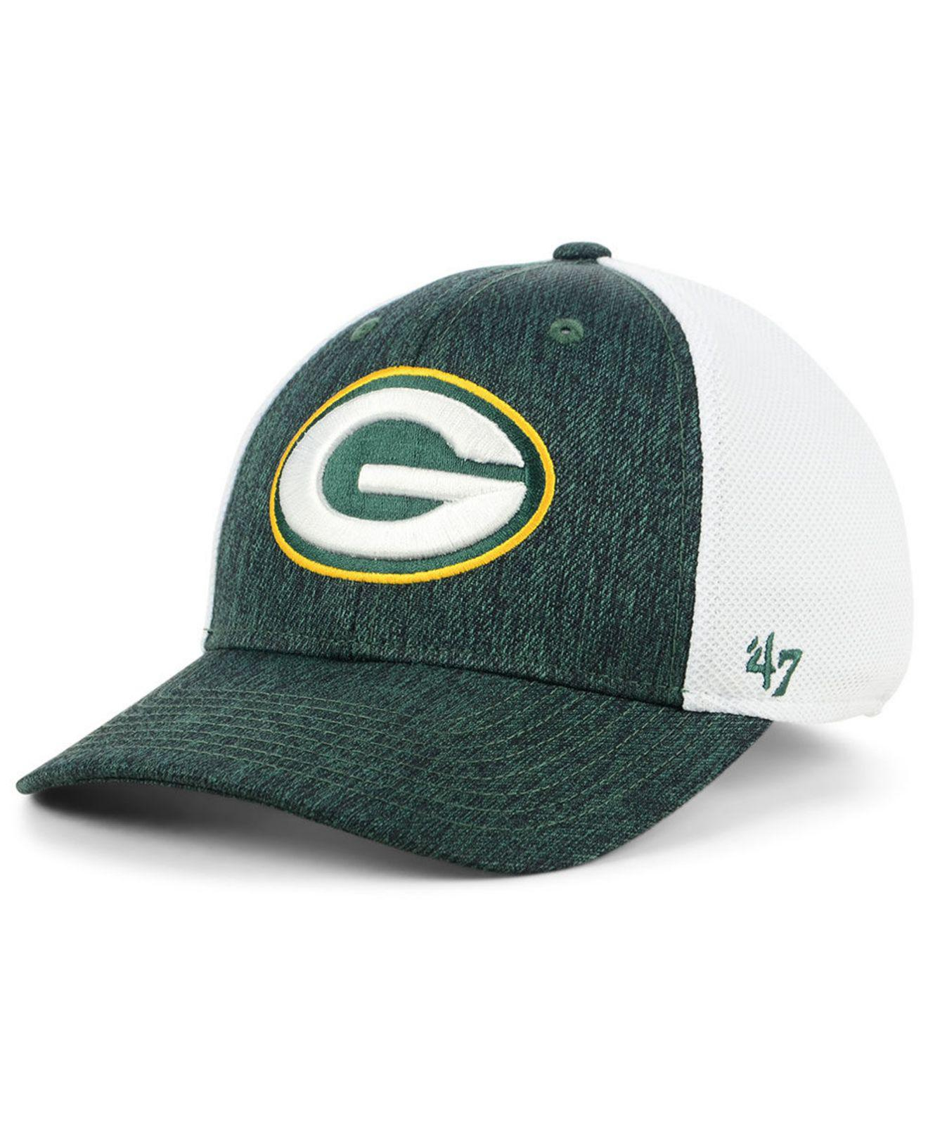 3493f46acae16 Lyst - 47 Brand Green Bay Packers Hazy Flex Contender Stretch Fitted ...