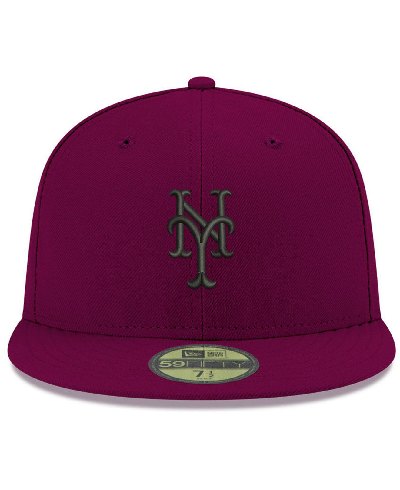 d6cc93787 Lyst - KTZ New York Mets Reverse C-dub 59fifty Fitted Cap in Purple for Men