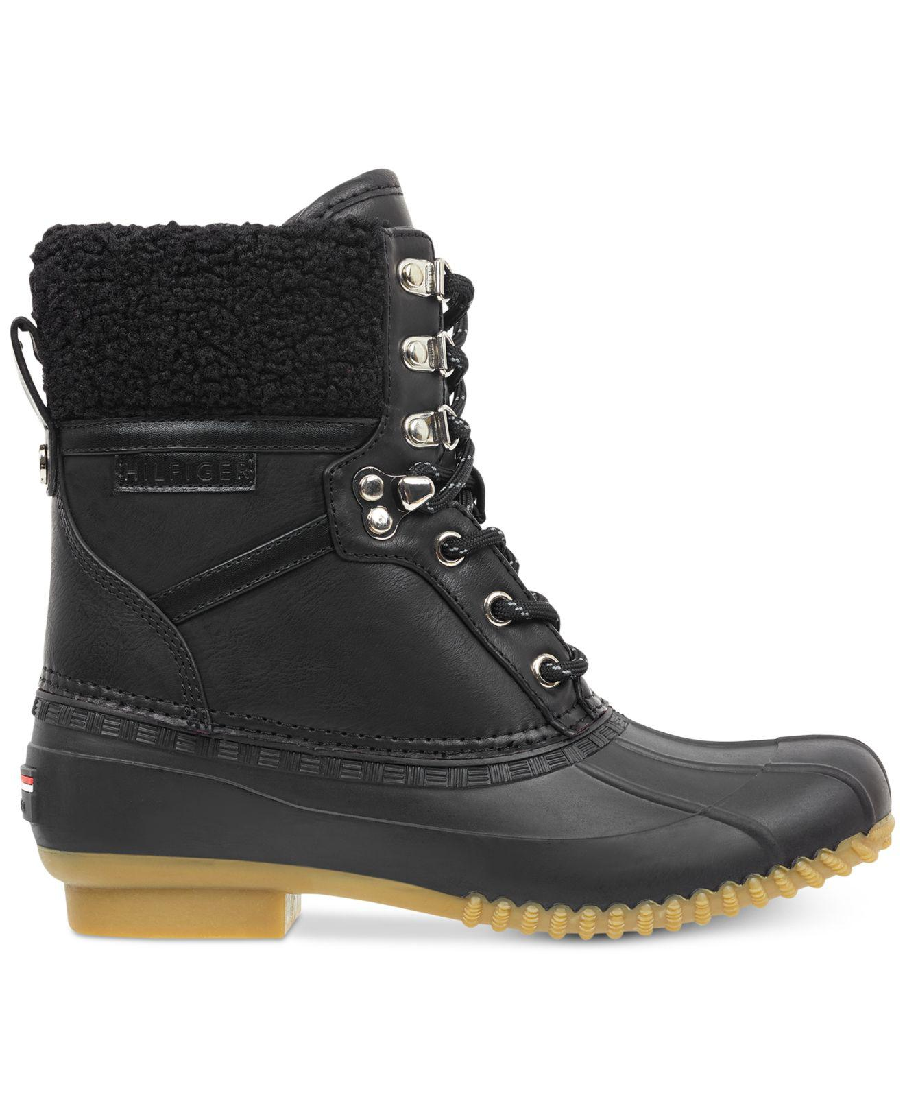 d235d9d270f646 Lyst - Tommy Hilfiger Rian Lace-up Winter Boots in Black