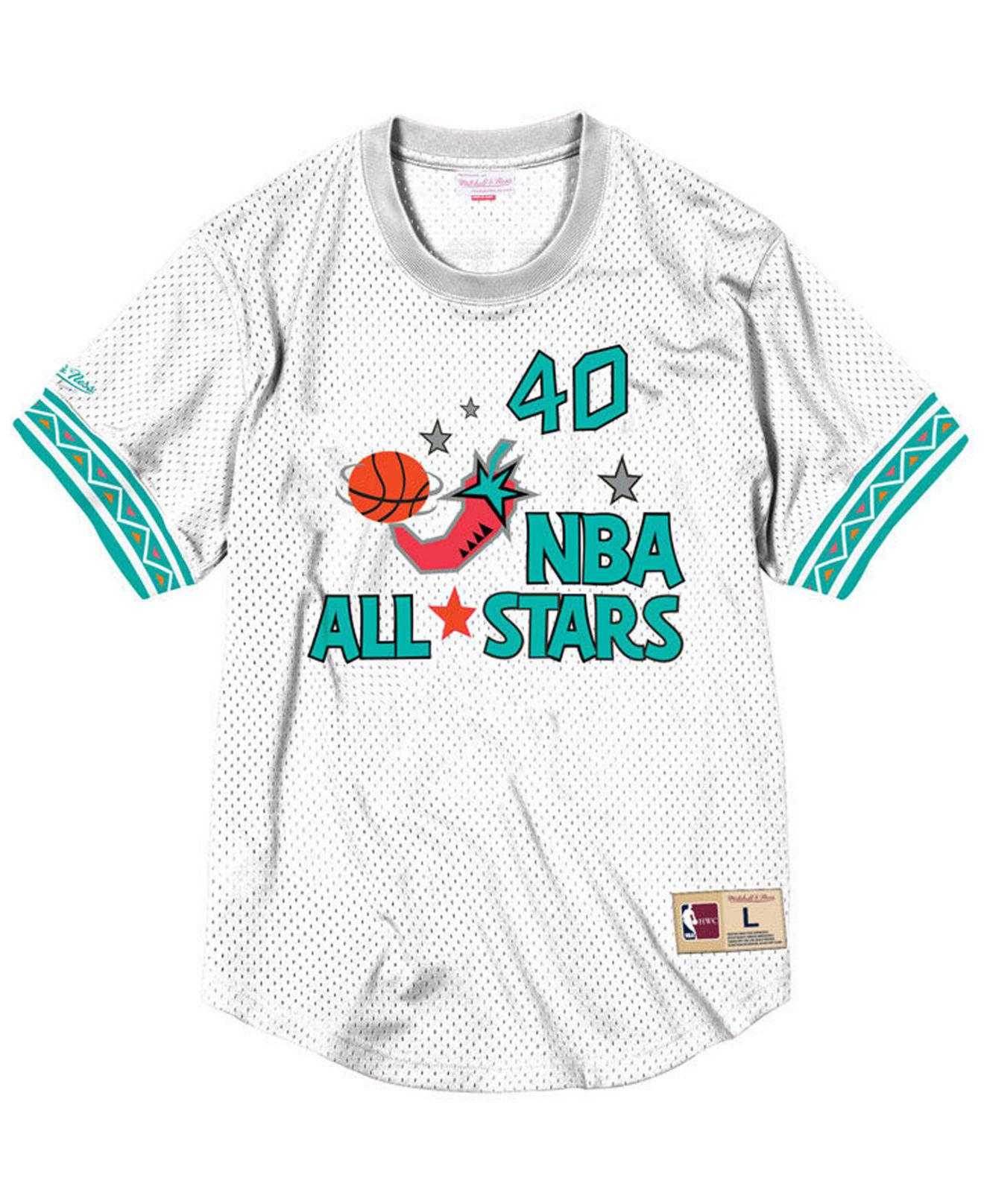 5b2aba419 Lyst - Mitchell   Ness Shawn Kemp Nba All Star 1996 Mesh Crew Neck ...