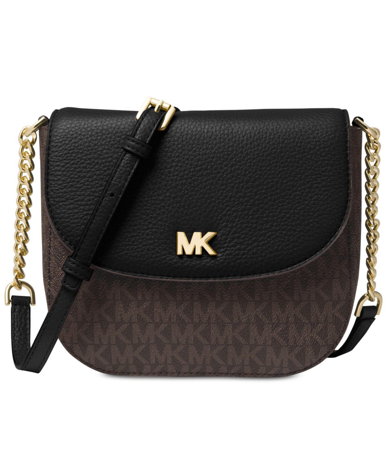 e4a5c1dfd7e2 Michael Kors Michael Half Dome Signature Small Crossbody in Black - Lyst