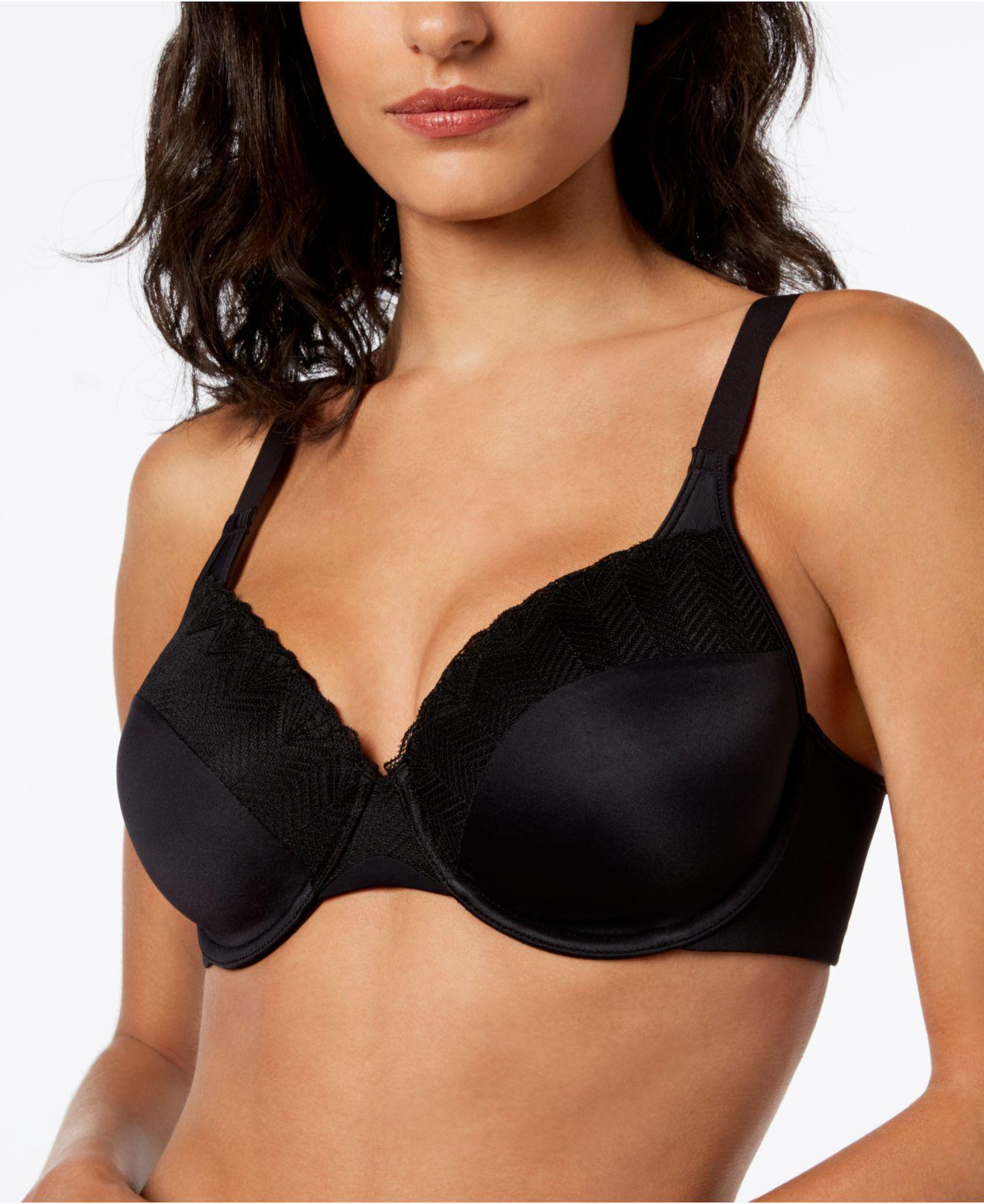 113ad7bf4f Bali. Women s Black Passion For Comfort Lace Back Smoothing Underwire With  Light Lift Bra Df0082