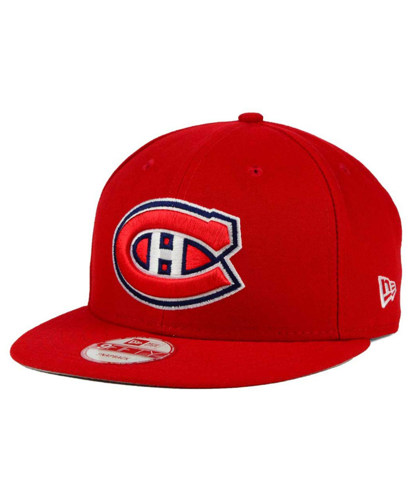 Lyst - KTZ Montreal Canadiens All Day 9fifty Snapback Cap in Red for Men b963ea36cf32
