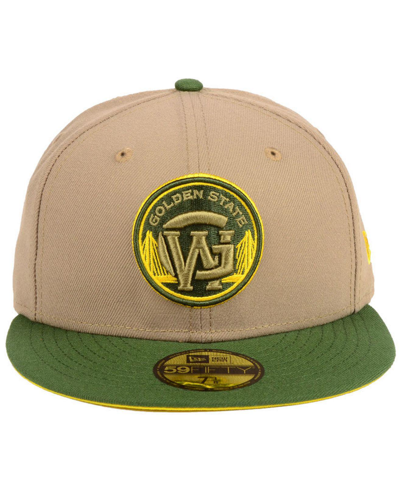 outlet store be687 336ec ... shopping lyst ktz golden state warriors fall 2 tone combo 59fifty fitted  cap in green for
