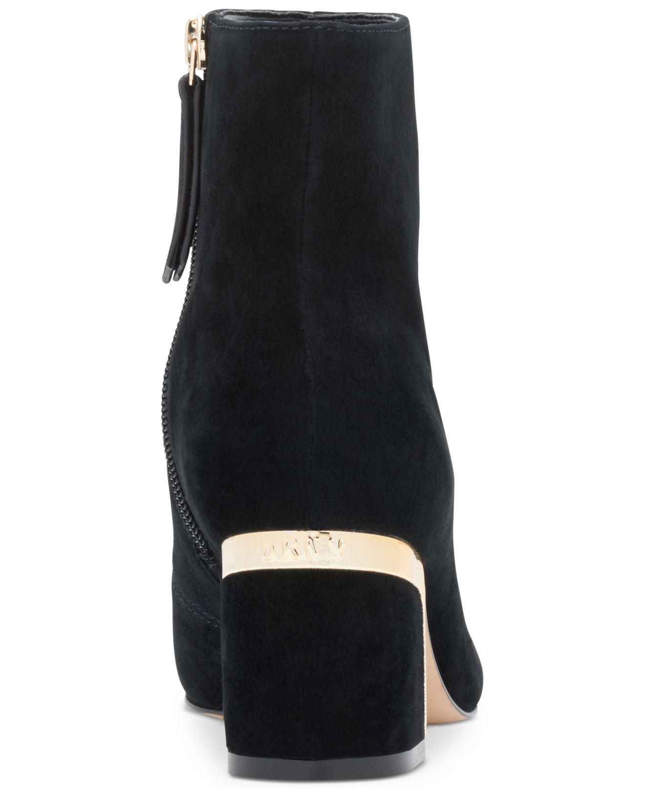 852b9417c DKNY Corrie Ankle Boots in Black - Lyst