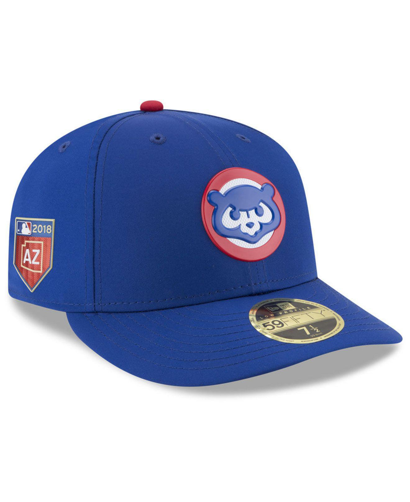 113f6a608 KTZ. Men's Blue Chicago Cubs Spring Training Pro Light Low Profile 59fifty  Fitted Cap