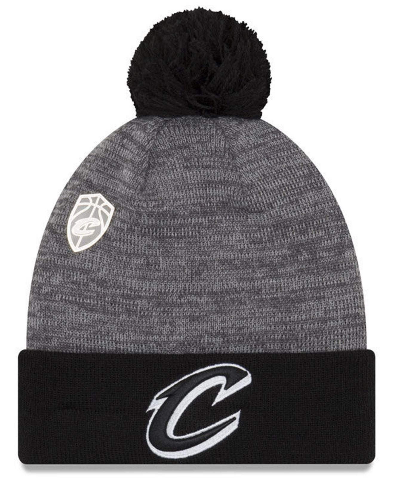 a82cd7f09b2 where to buy lyst ktz pin pom knit hat in black for men 1f347 a7d71