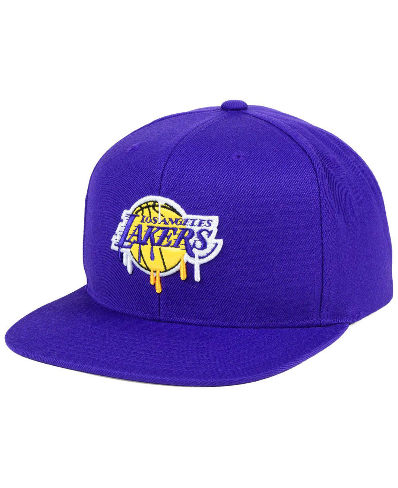 f1318dd6 ... wholesale lyst mitchell ness los angeles lakers dripped snapback cap in  5003a 0fac5