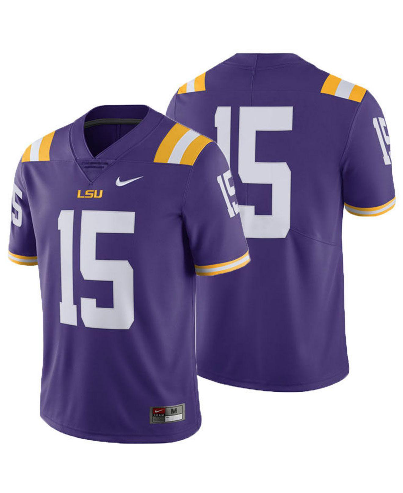 Lyst - Nike Lsu Tigers Limited Football Jersey in Purple for Men a38c29336