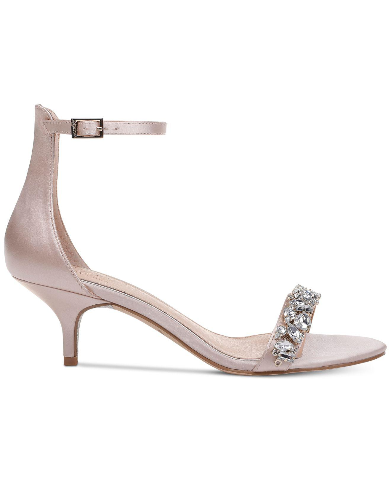 Lyst - Badgley Mischka Dash Kitten-heel Evening Sandals