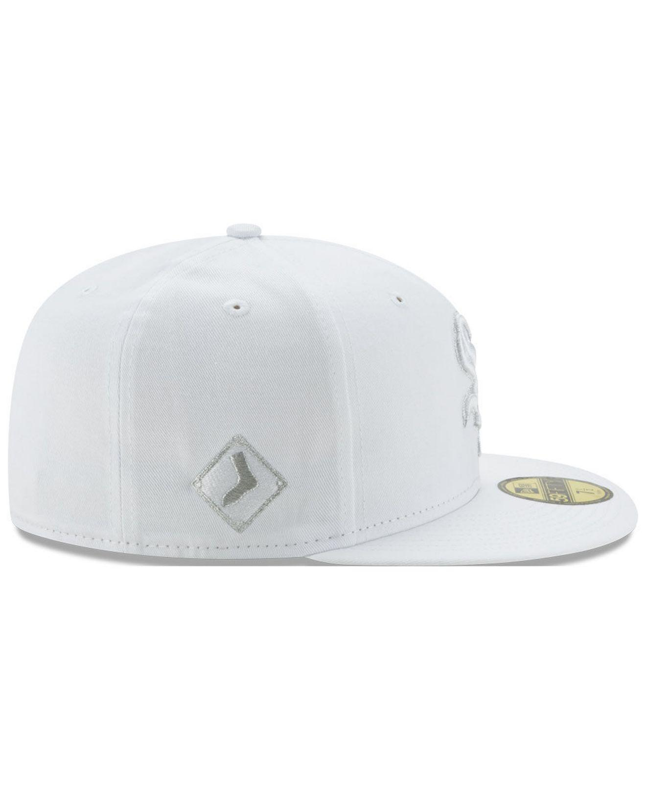 top fashion 2c1fd ea054 ... switzerland ktz chicago white sox pure money 59fifty fitted cap for men  lyst. view fullscreen