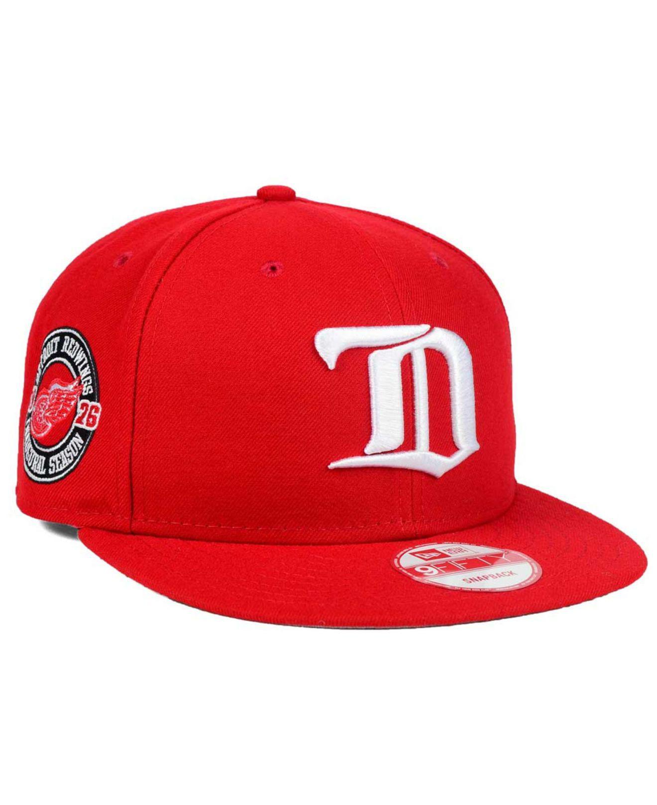 newest ef5f9 8b31e ... ebay ktz detroit red wings all day 9fifty snapback cap for men lyst.  view fullscreen