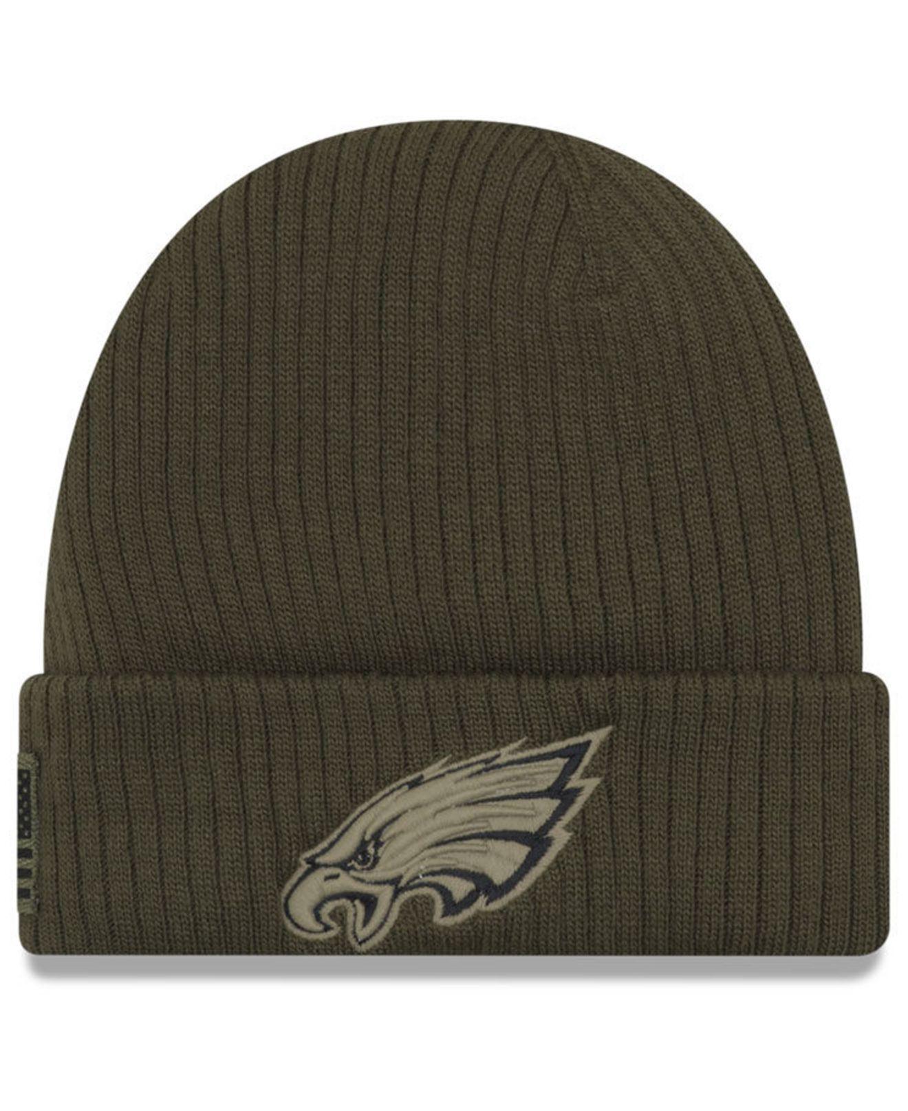 e1375381473 Lyst - Ktz Philadelphia Eagles Salute To Service Cuff Knit Hat in ...