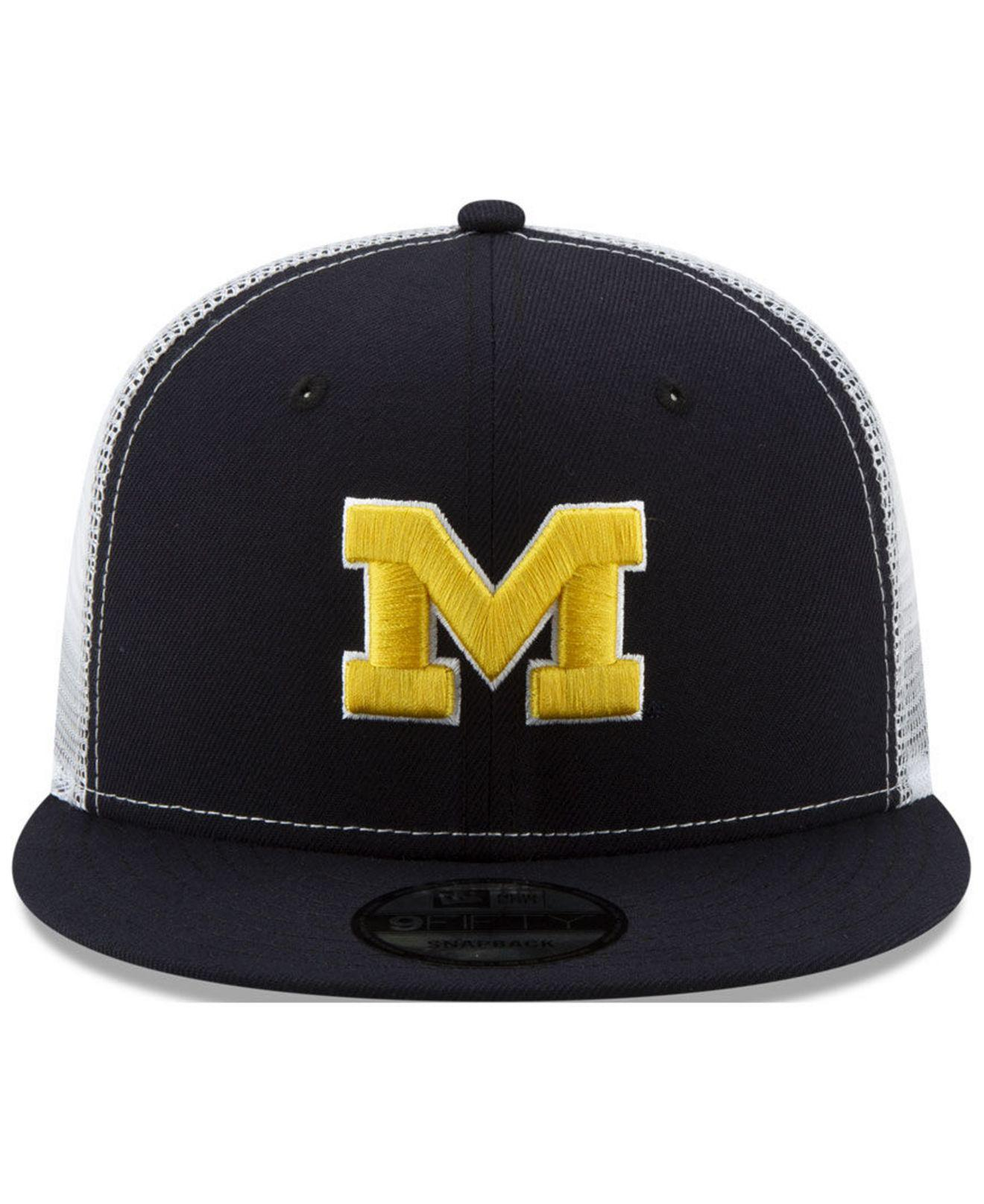 designer fashion e3098 f9e8f Lyst - KTZ Michigan Wolverines Tc Meshback Snapback Cap in Blue for Men