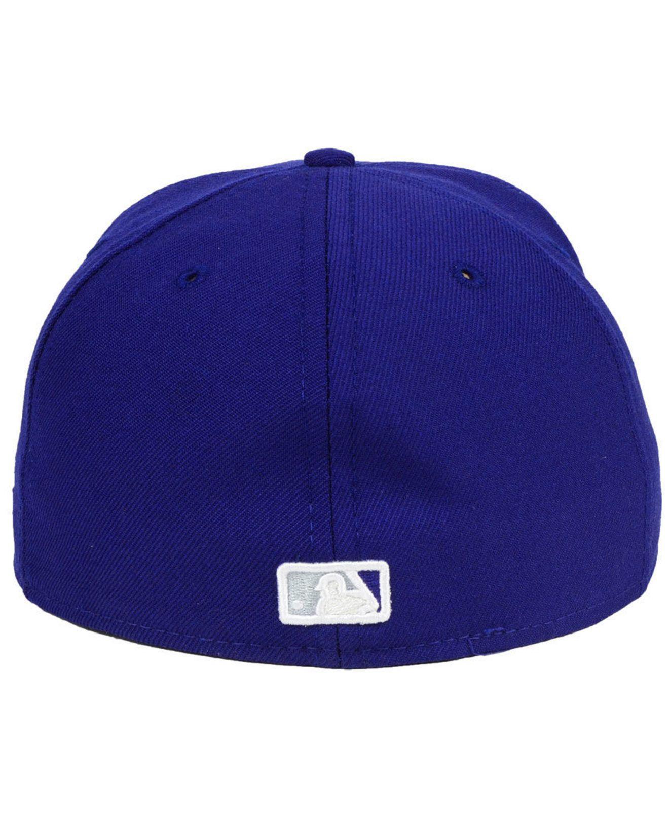 a2edd4e74c8 Lyst - Ktz Los Angeles Dodgers Custom Color 59fifty Cap in Blue for Men