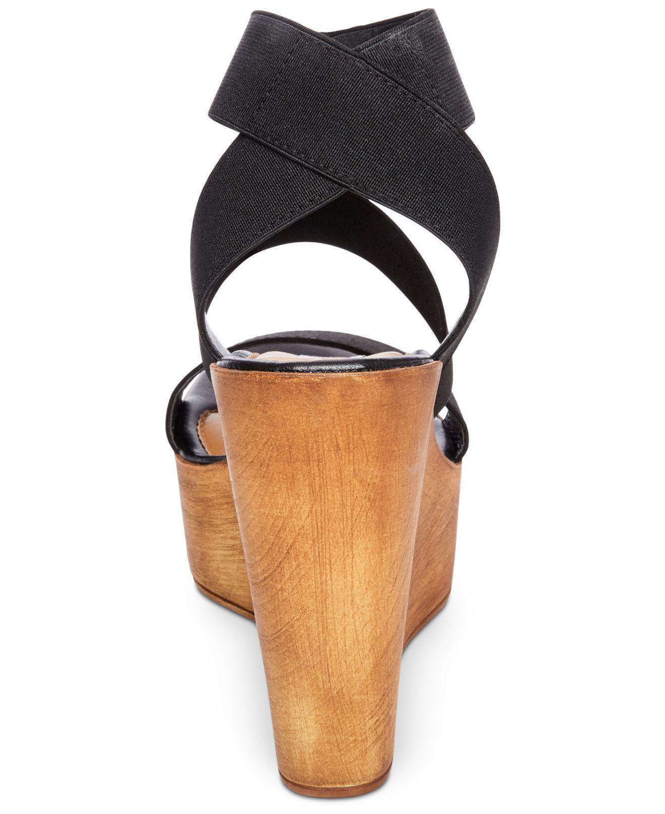 aa174415d59b Lyst - Steve Madden Blondy Platform Wedge Sandals in Black
