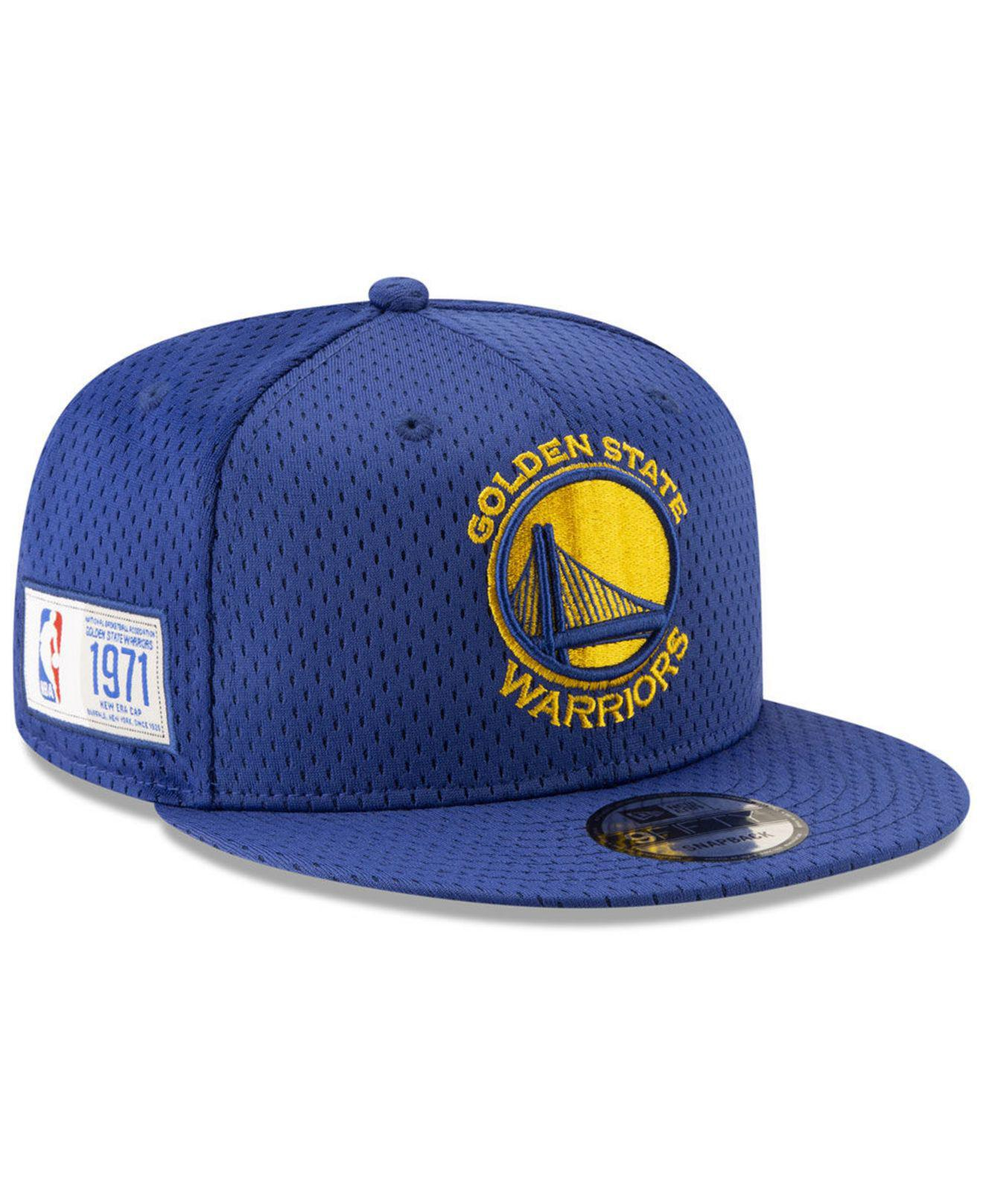 quality design d7a08 bfe47 KTZ. Men s Blue Golden State Warriors Jock Tag 9fifty Snapback Cap