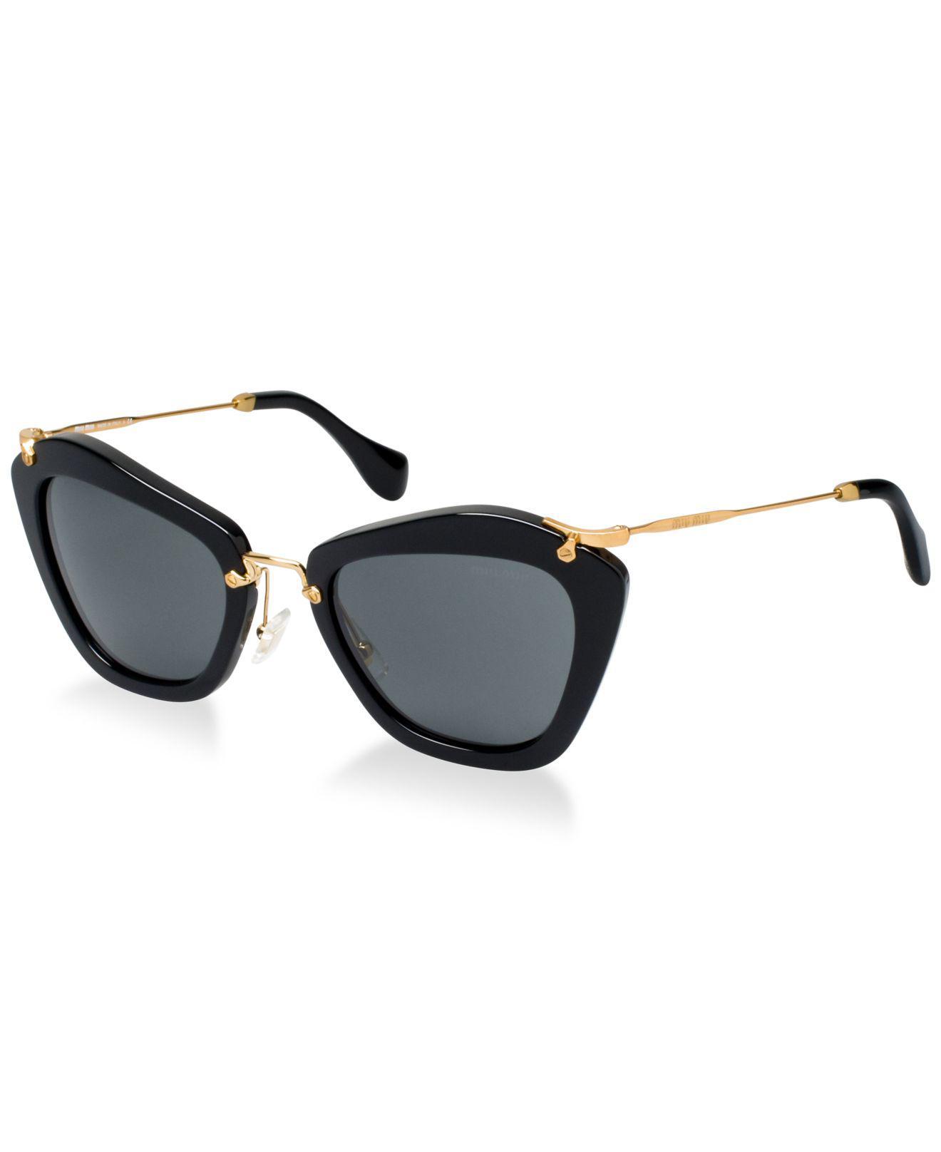 9ad177169 Miu Miu Sunglasses, Mu 10ns in Brown - Save 39% - Lyst