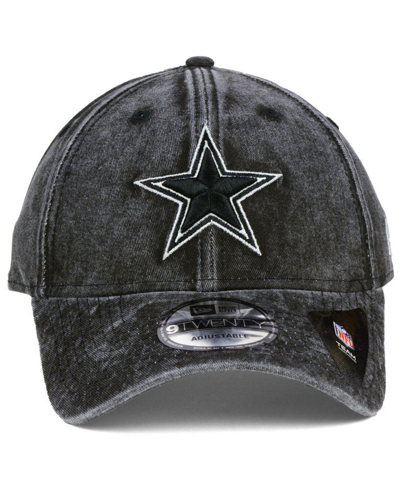 ... new 5b5c66 4ee63 62440  usa lyst ktz dallas cowboys nfl italian wash  9twenty cap in black for men 64825 54b41 af7ee993a