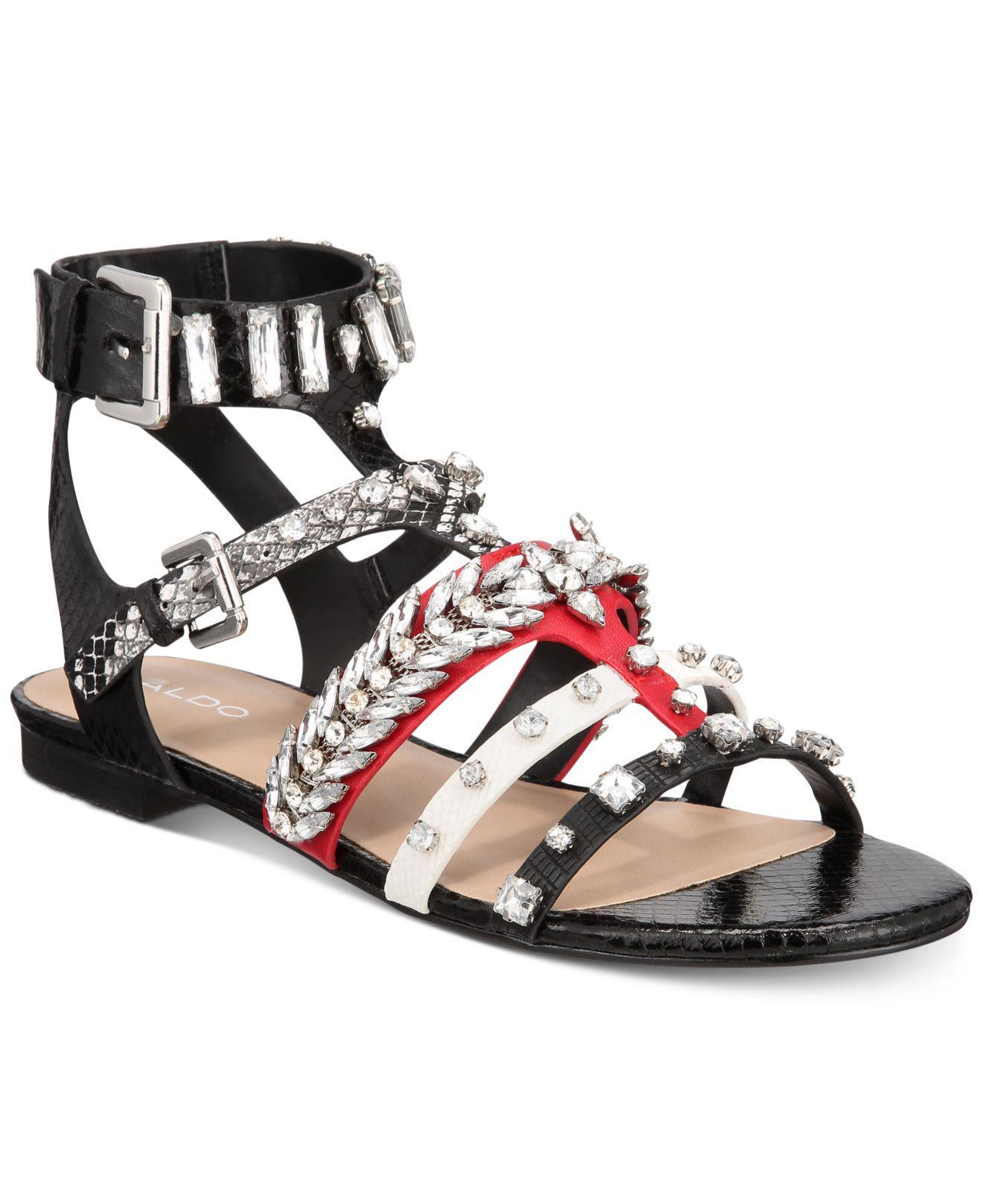 bac1a12023d Lyst - ALDO Brari Embellished Gladiator Sandals in Black