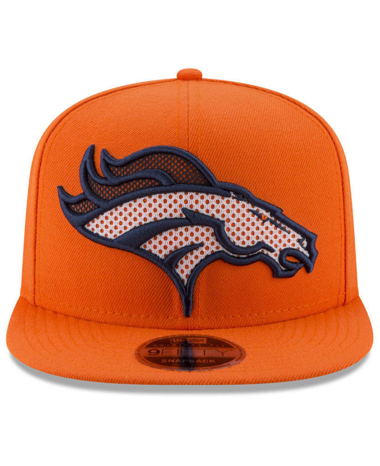 Lyst - KTZ Denver Broncos Meshed Mix 9fifty Snapback Cap in Orange for Men dcd3c7e402d6