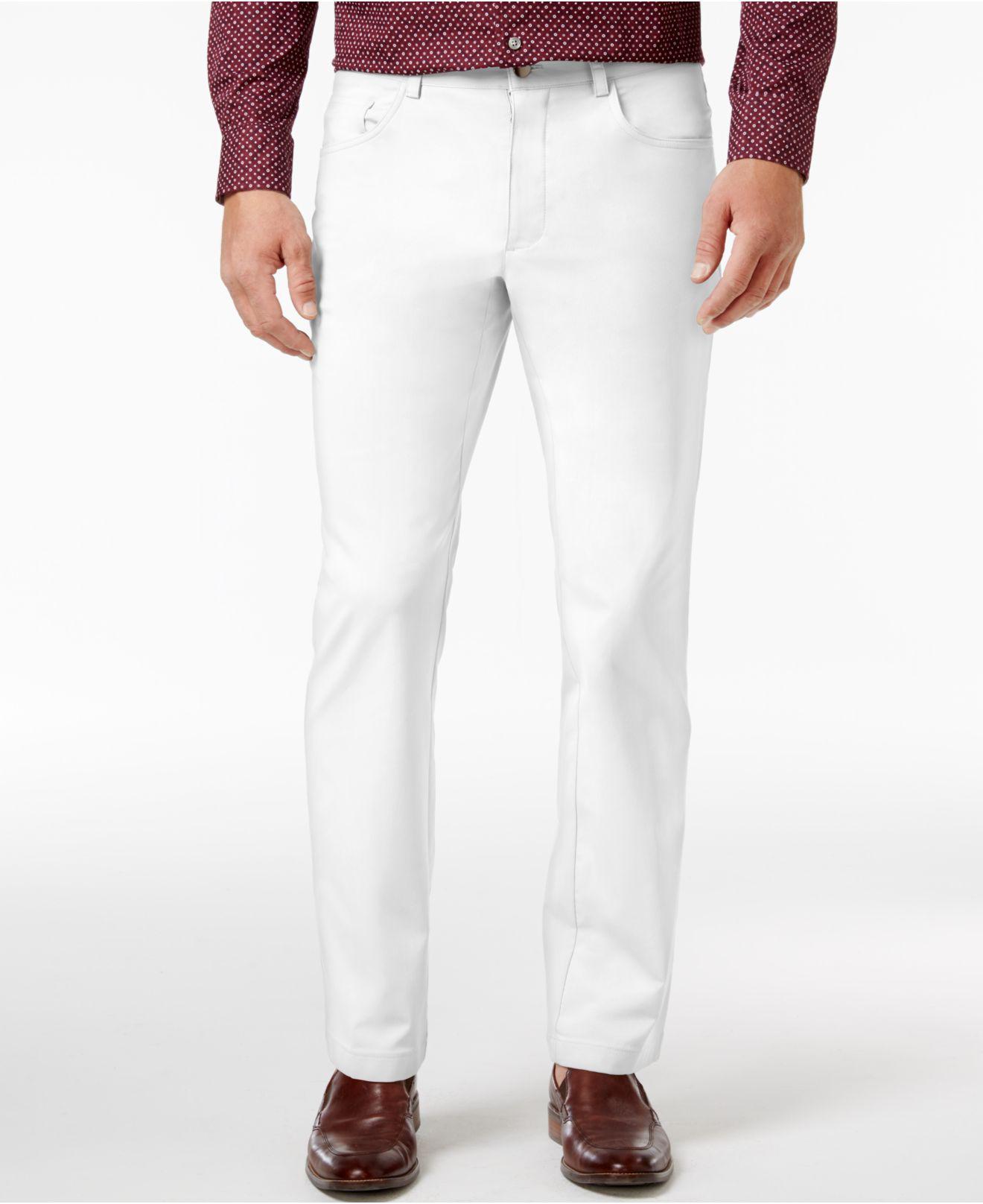 f2ccbe793637 Lyst - Inc International Concepts Men s Slim-fit White Stretch ...