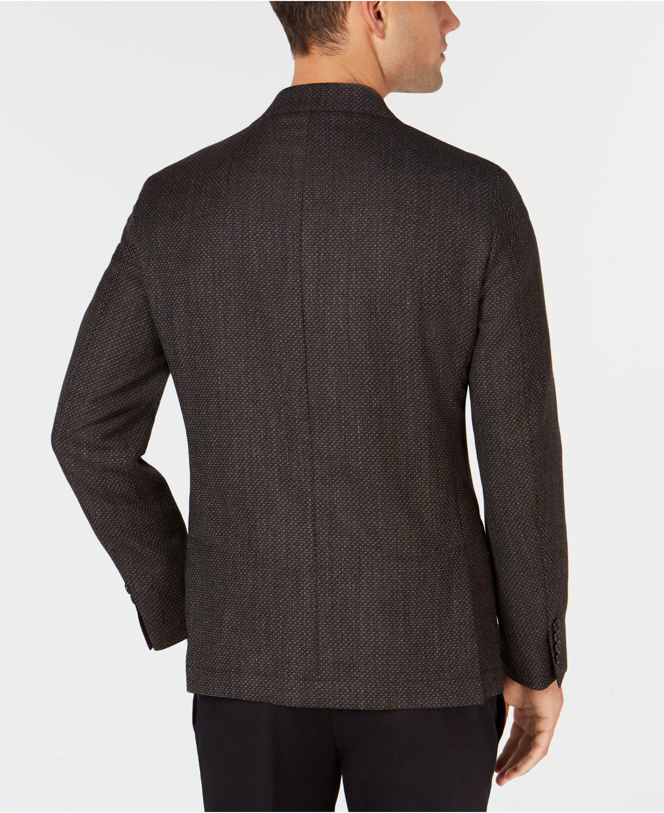 8f62cdbbe1f Lyst - DKNY Slim-fit Chocolate Brown Diamond Pattern Wool Sport Coat ...