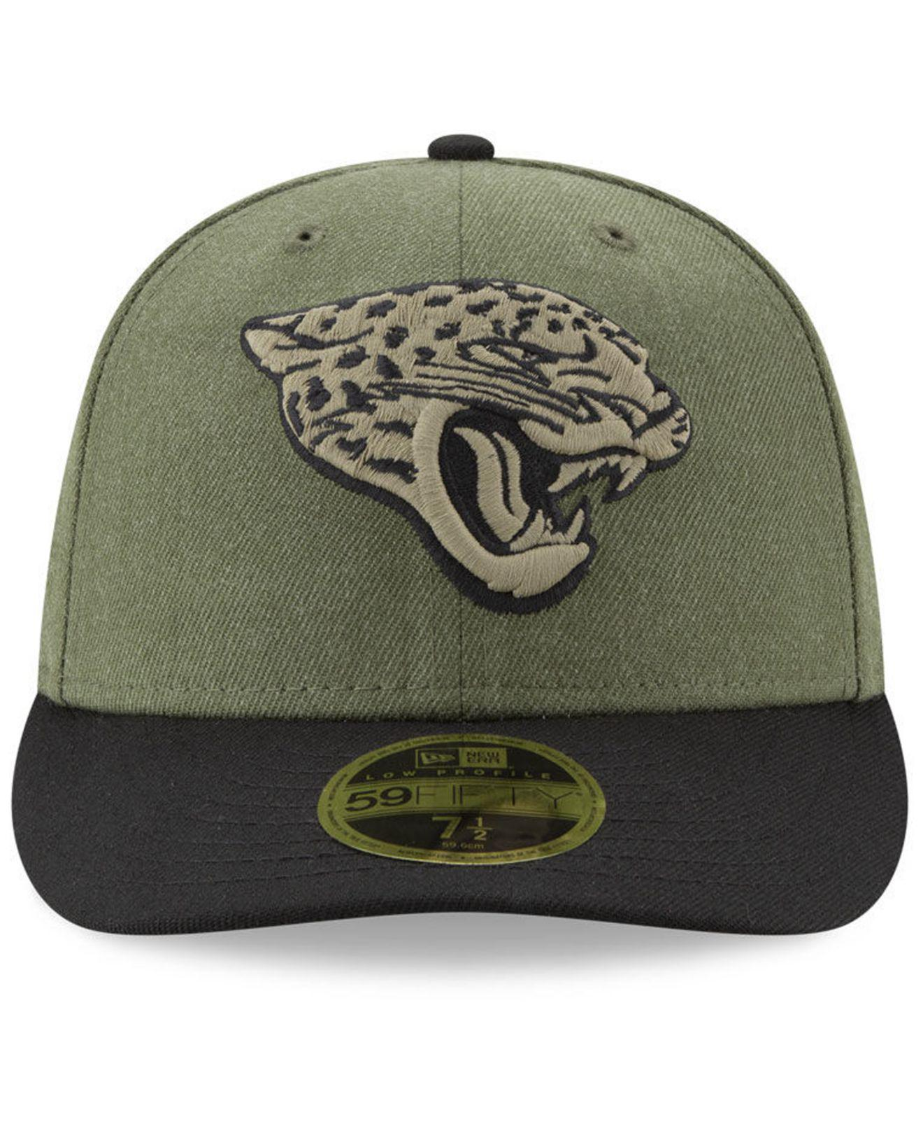 cbe545848 Lyst - KTZ Jacksonville Jaguars Salute To Service Low Profile 59fifty  Fitted Cap 2018 in Green for Men