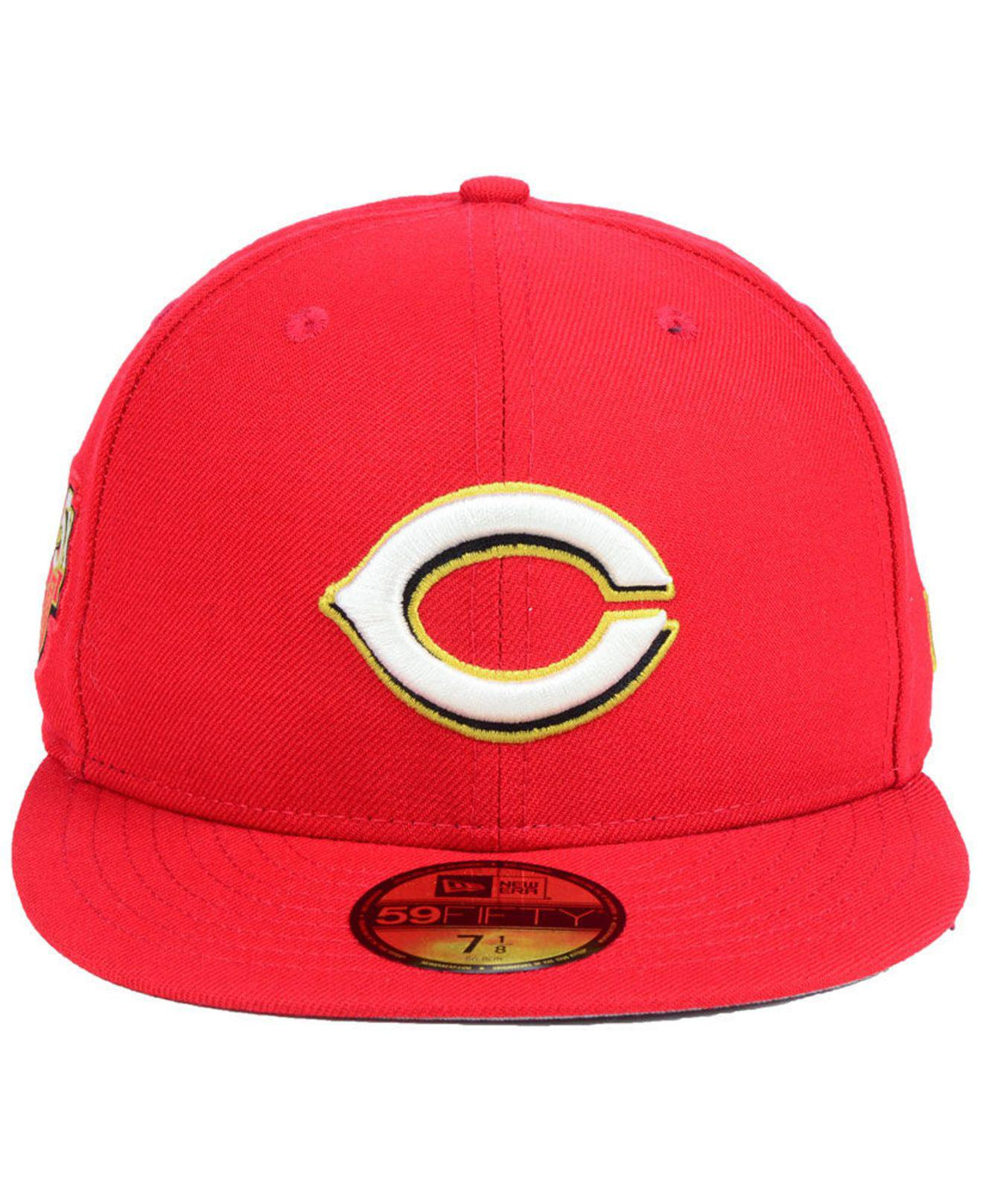 6d7a05898c8 Lyst - Ktz Cincinnati Reds Trophy Patch 59fifty Fitted Cap in Red for Men