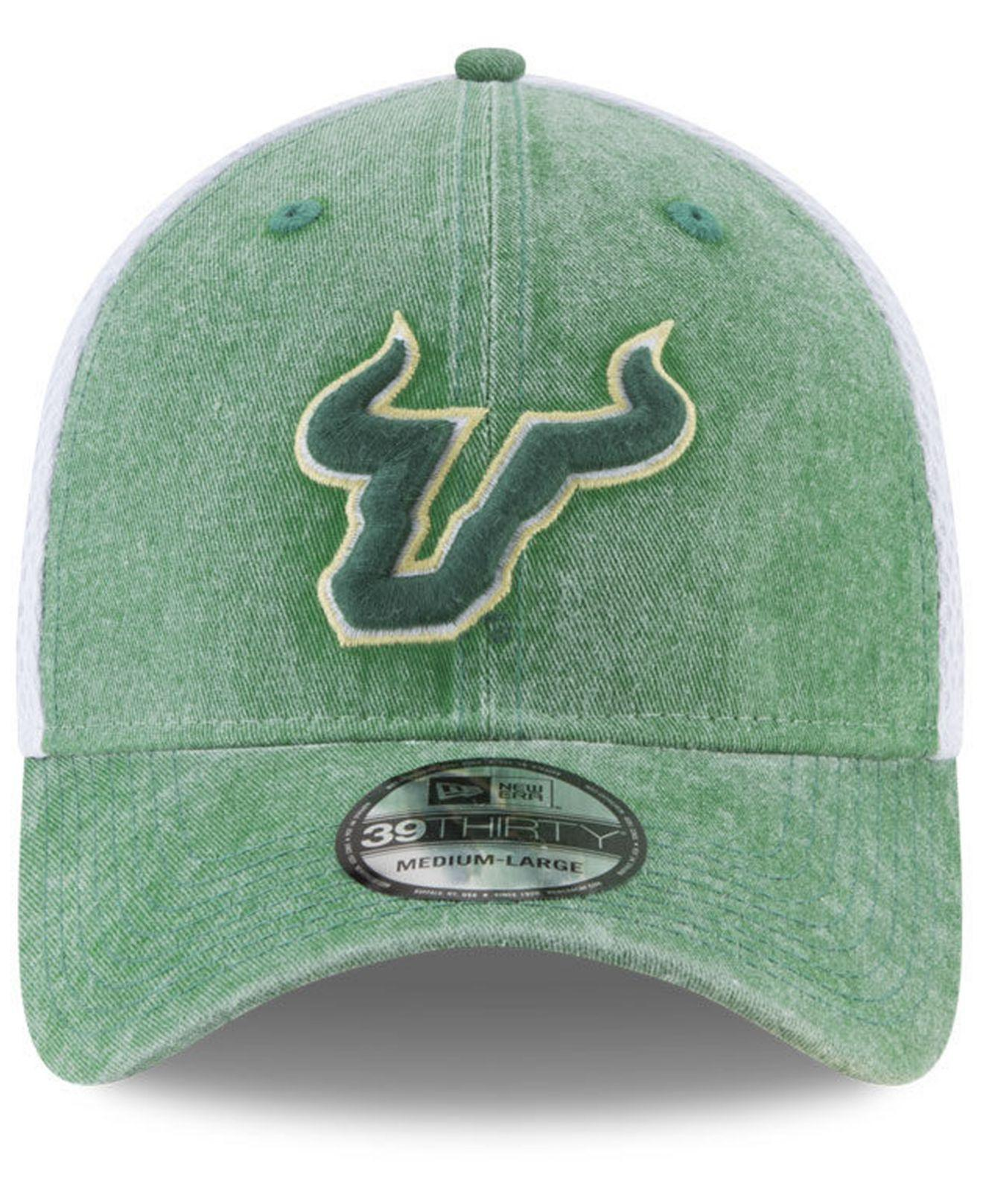new product 171b6 d54ee Lyst - KTZ South Florida Bulls Washed Neo 39thirty Cap in Green for Men